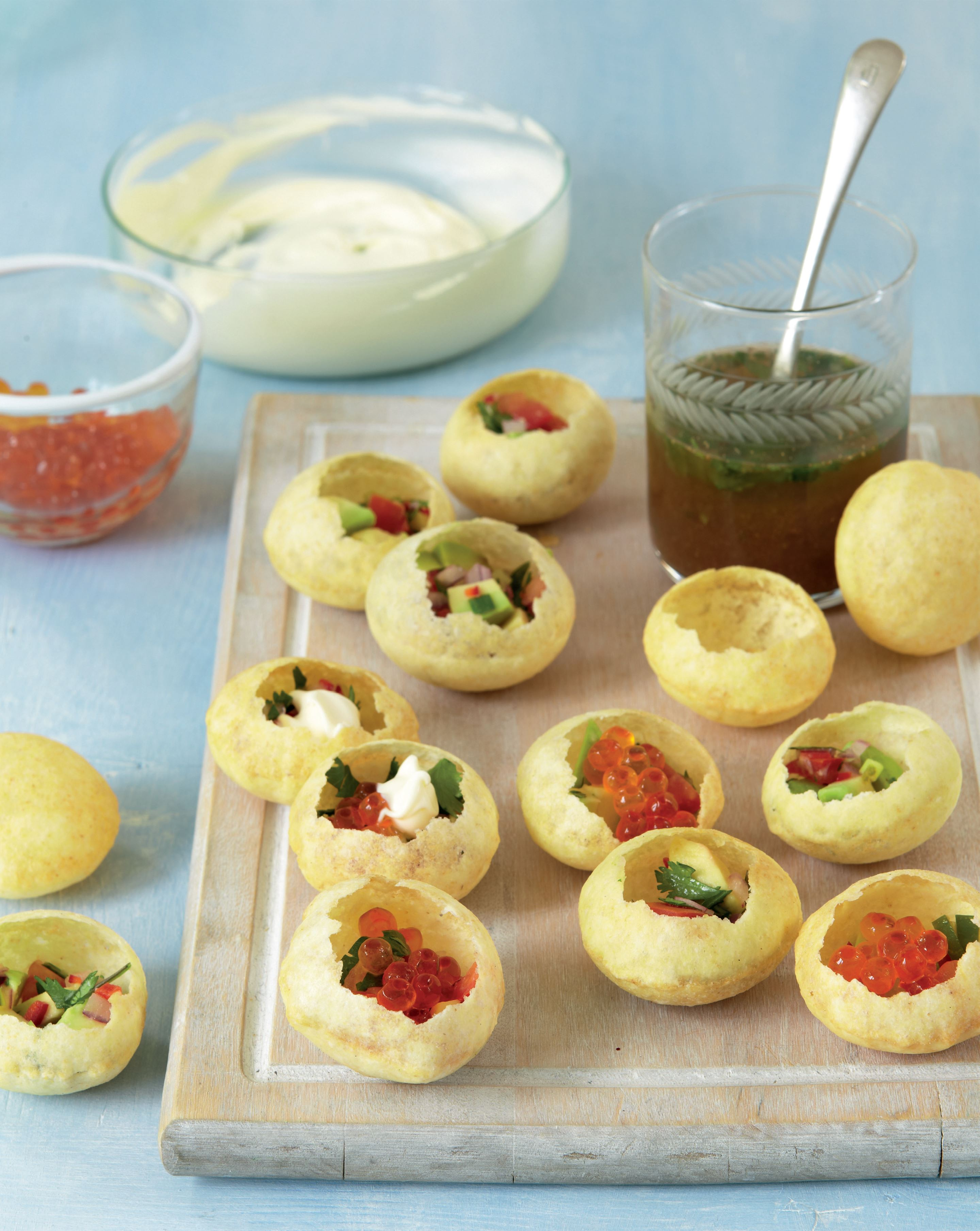 Avocado pani puri