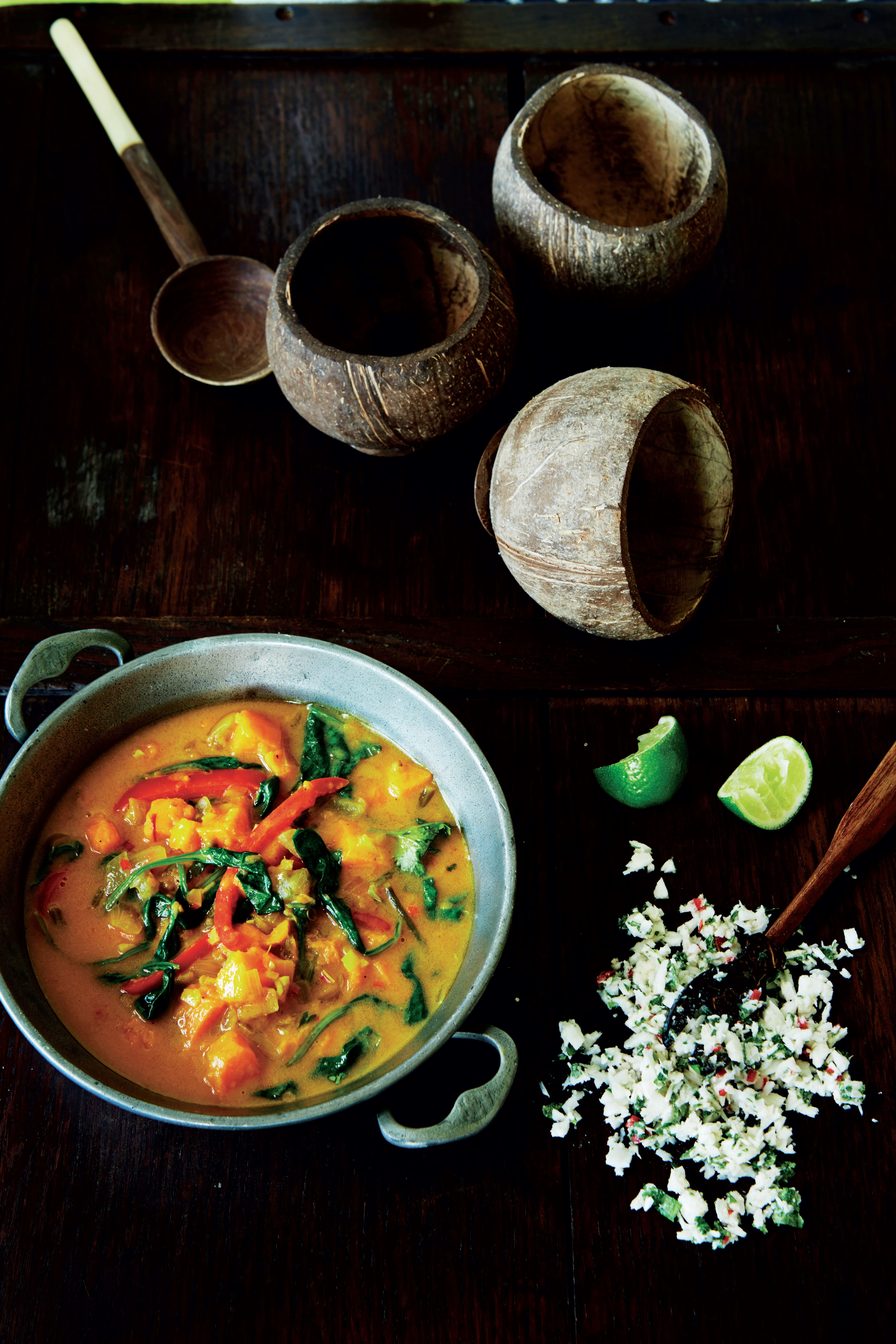 Sweet potato & coconut South Seas soup