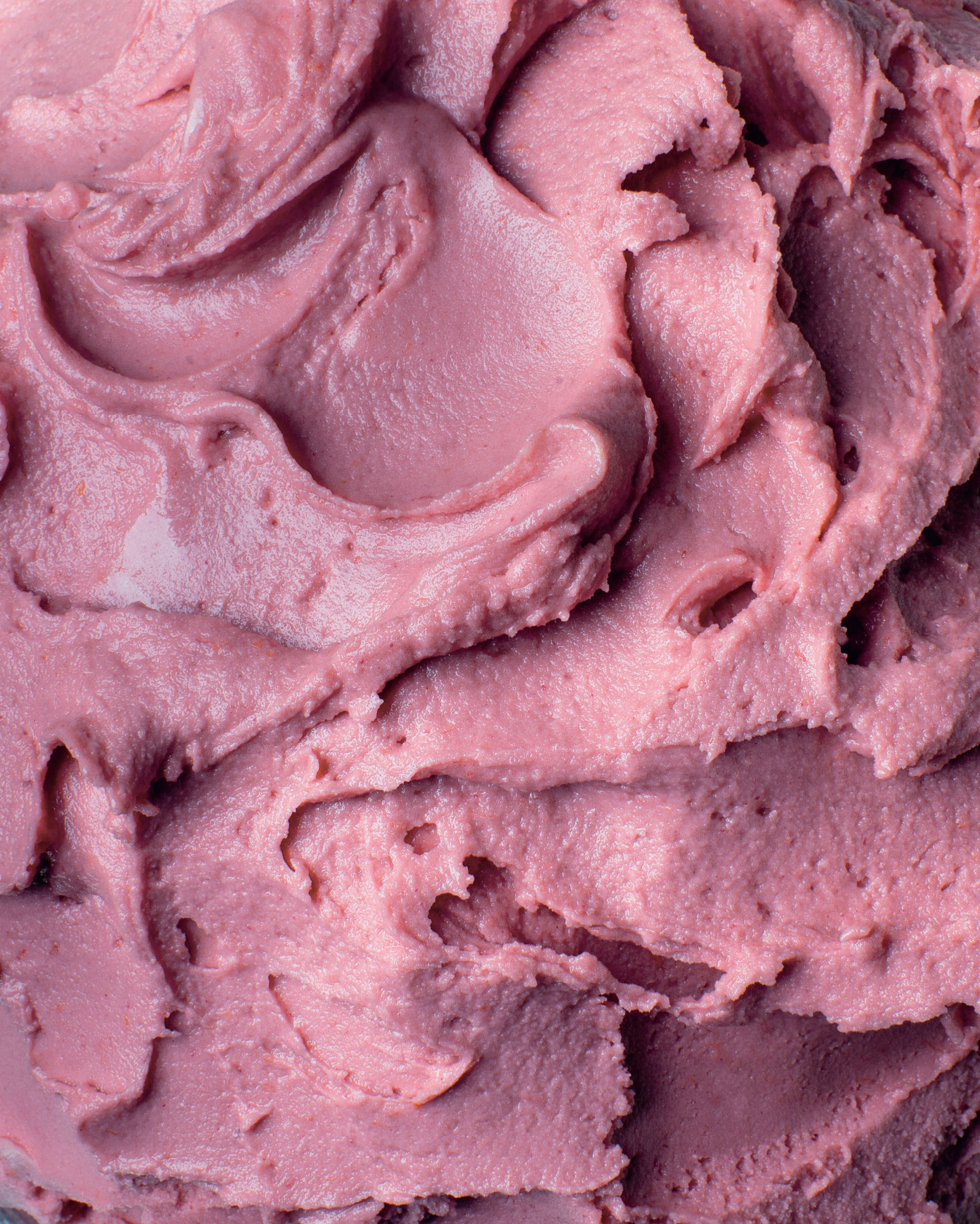 Blood plum sorbet