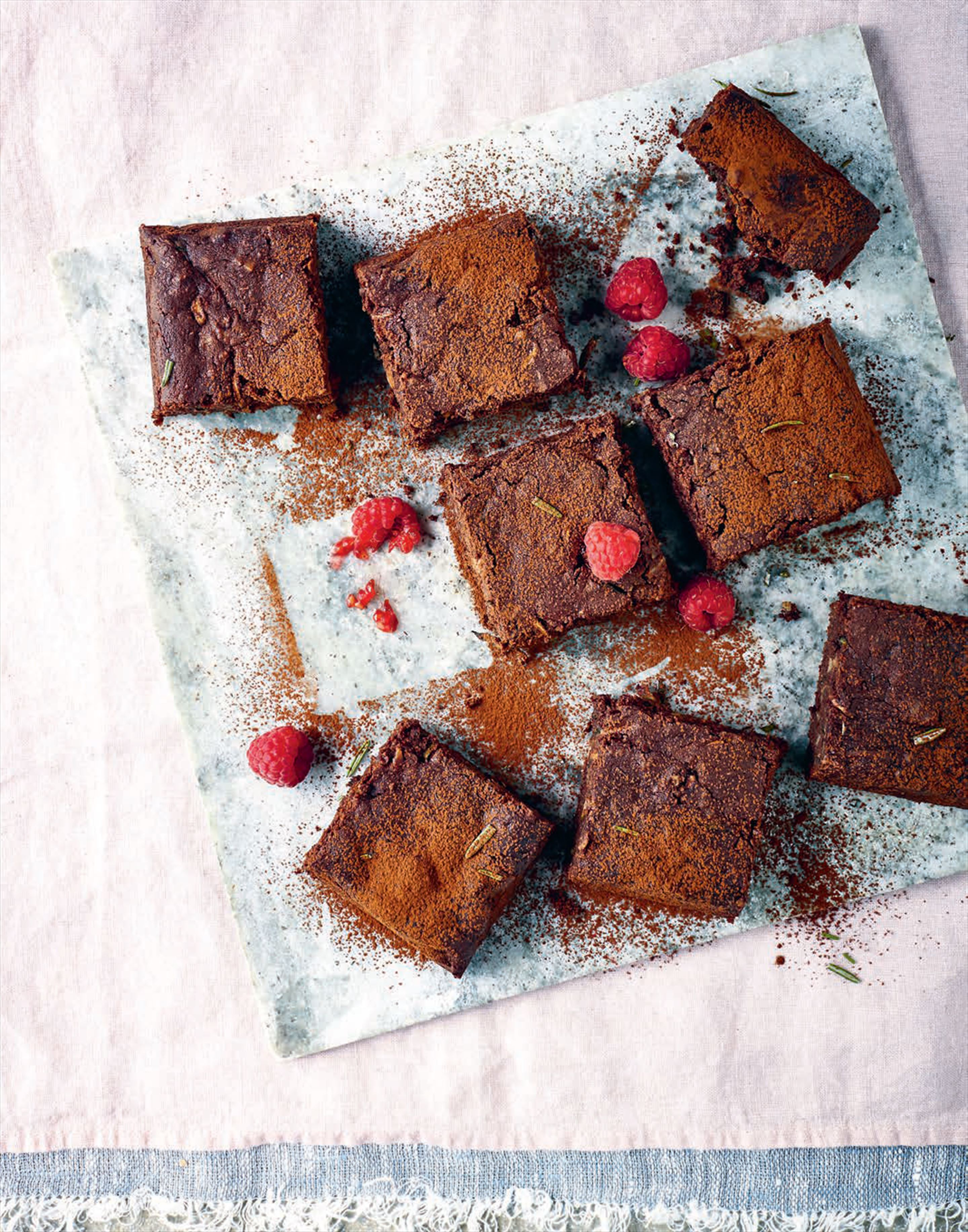 Courgette and rosemary chocolate brownies