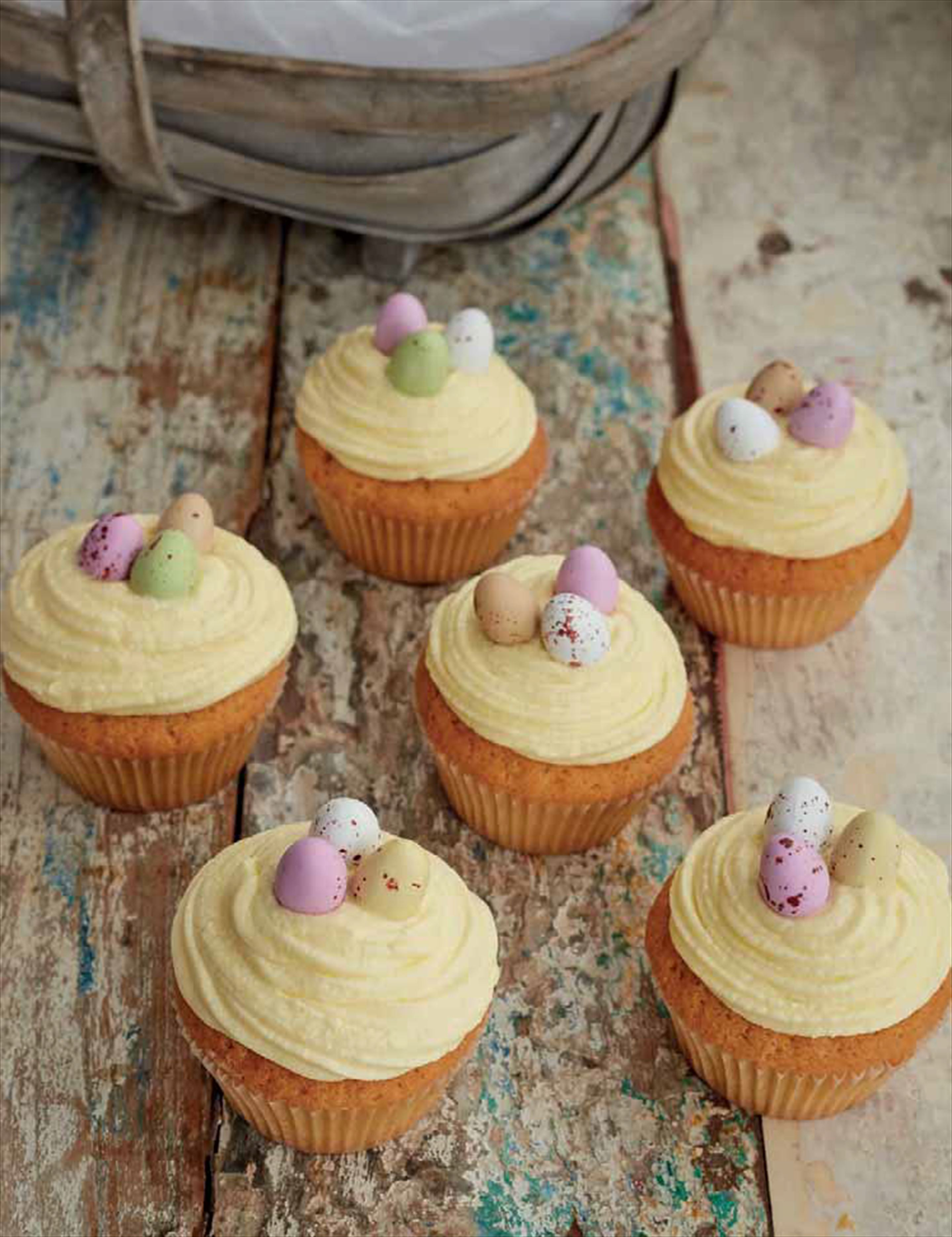 Mini egg fairy cakes