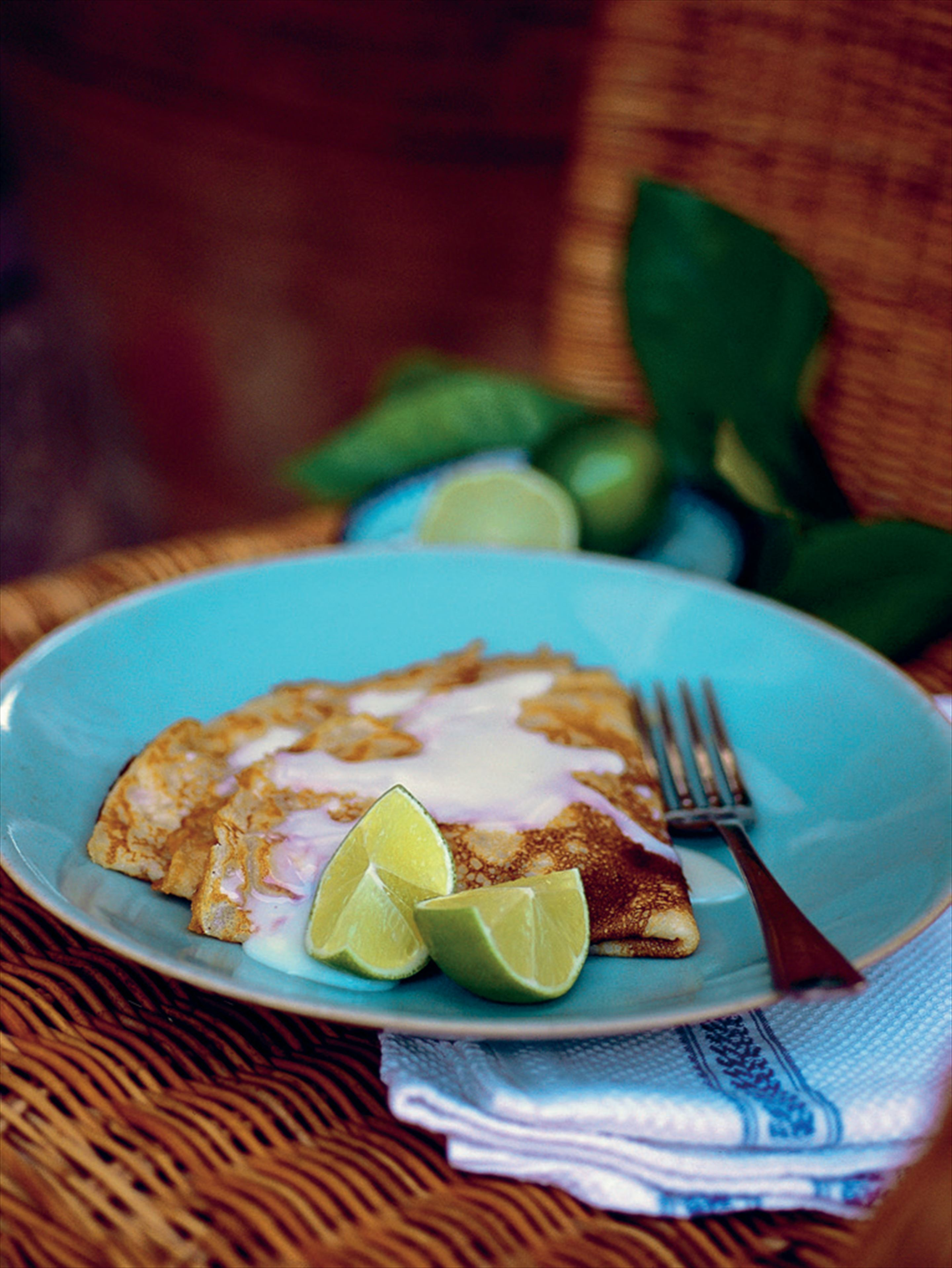 Pancakes with lime