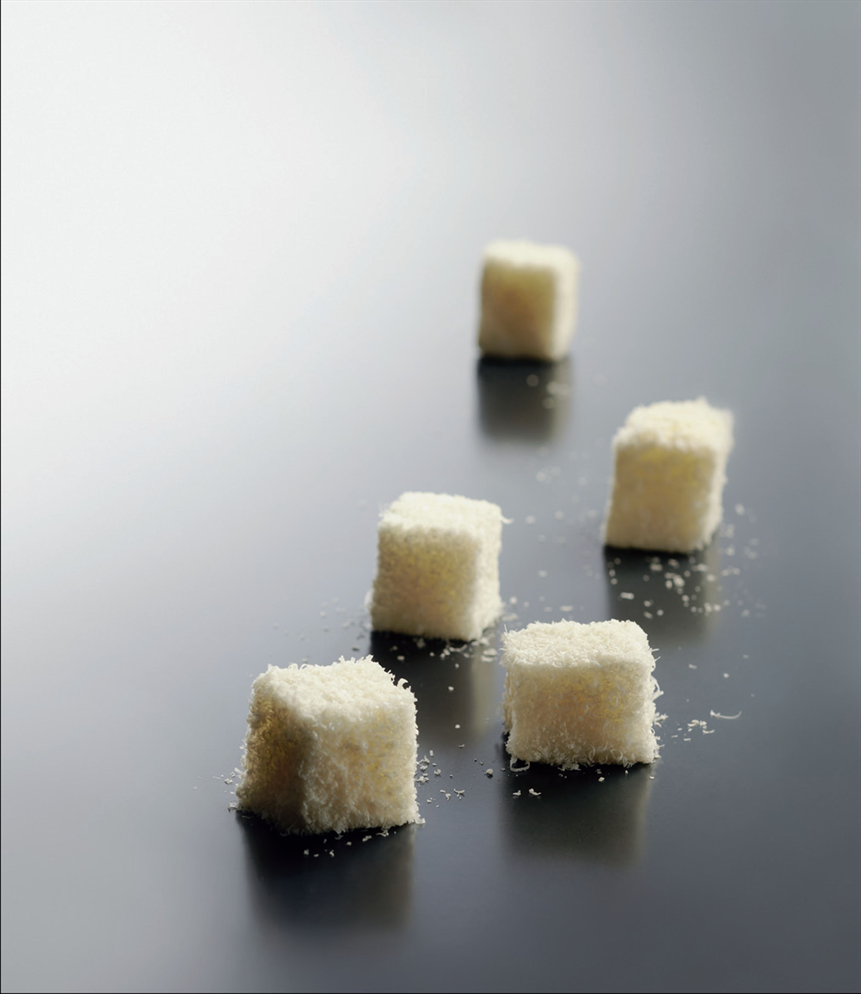 Tomato and parmesan marshmallows