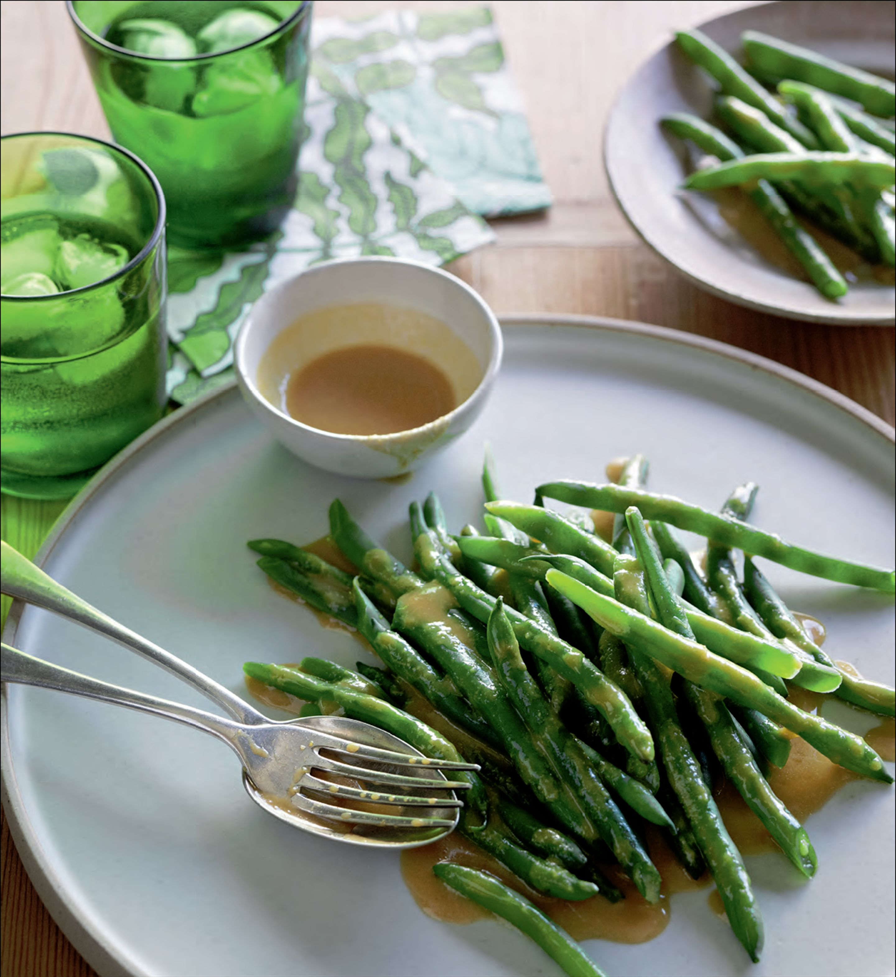 Green beans with miso