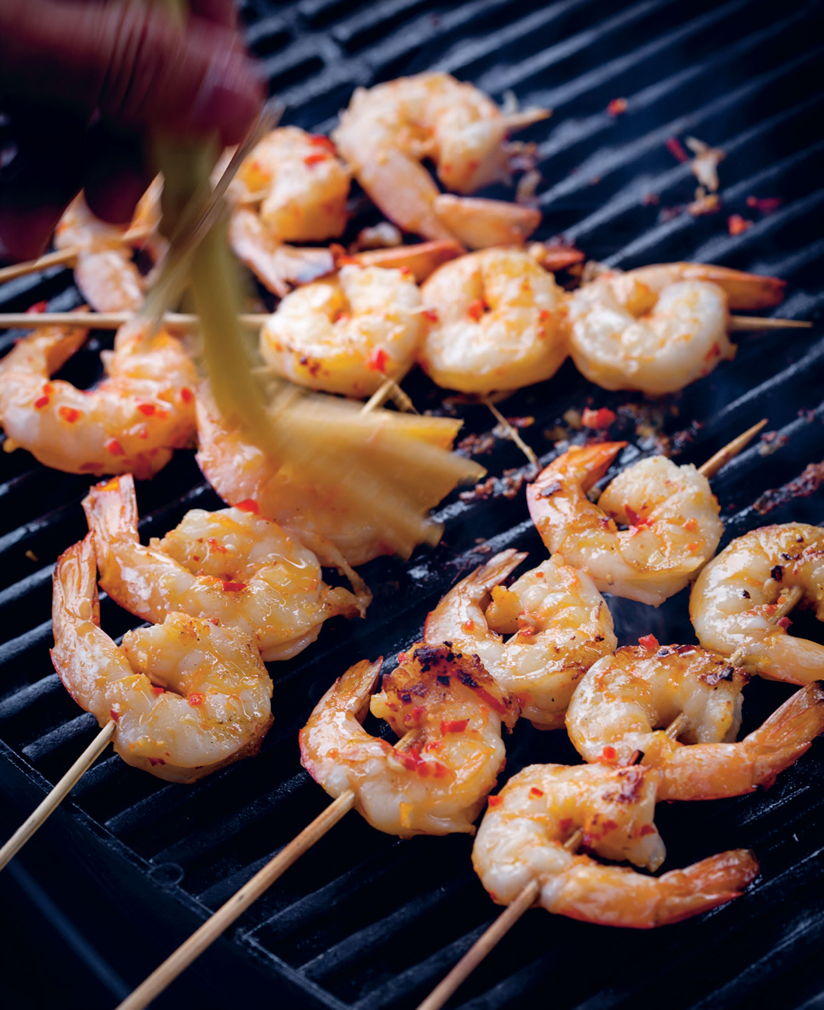 Lime and lemongrass king prawns