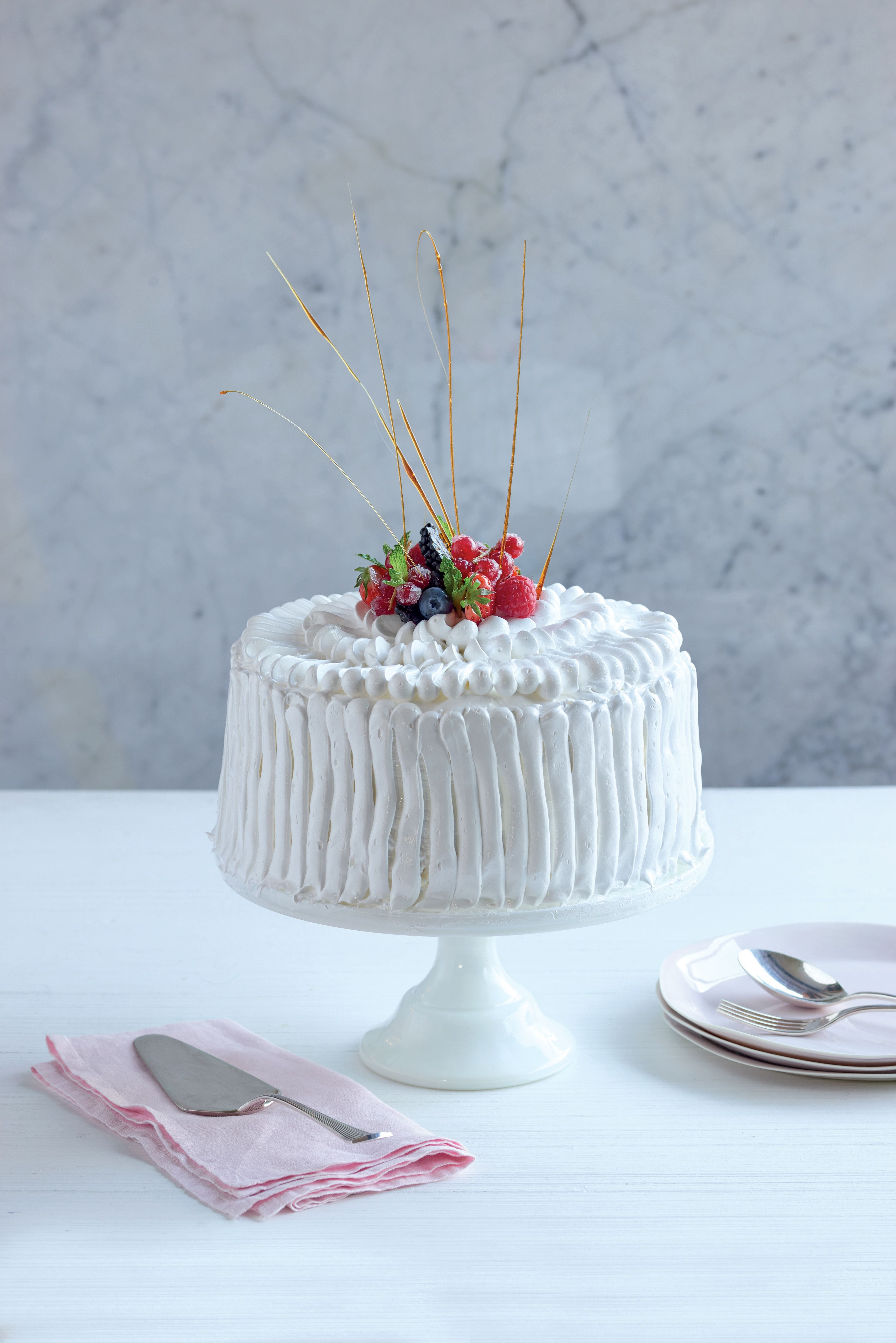 Neapolitan ice cream meringue cake