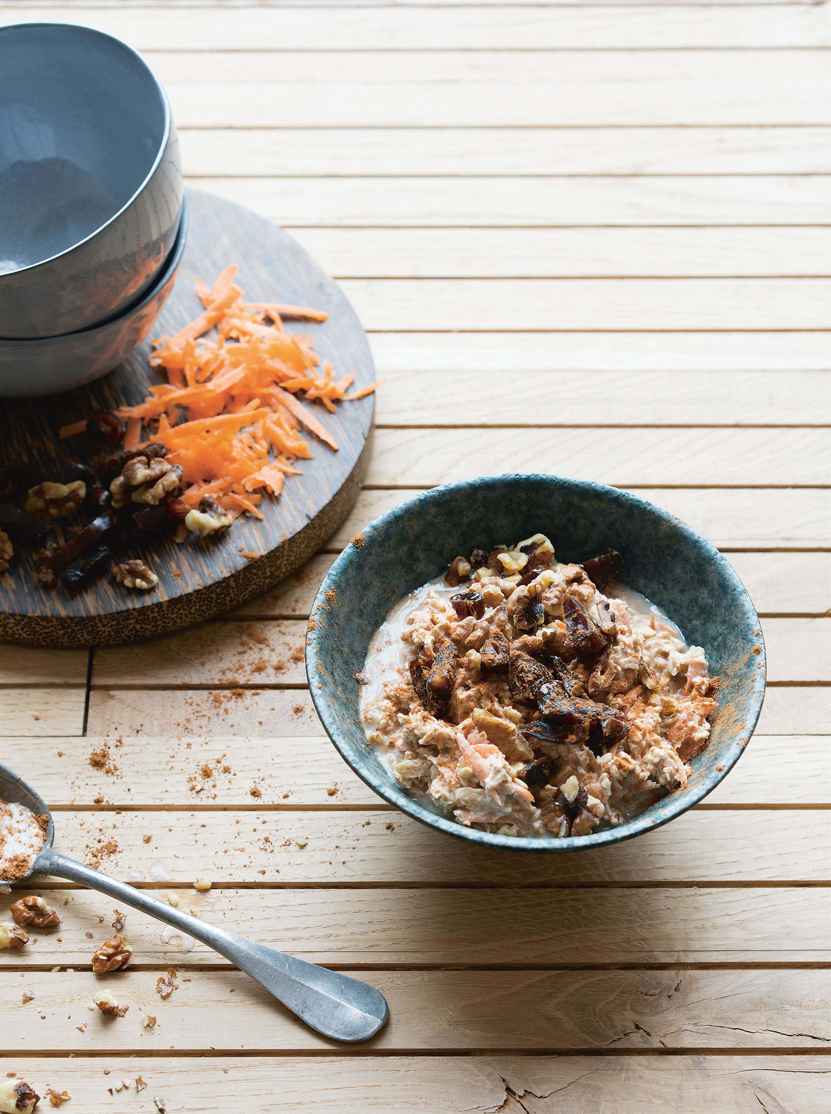 Spiced carrot bircher
