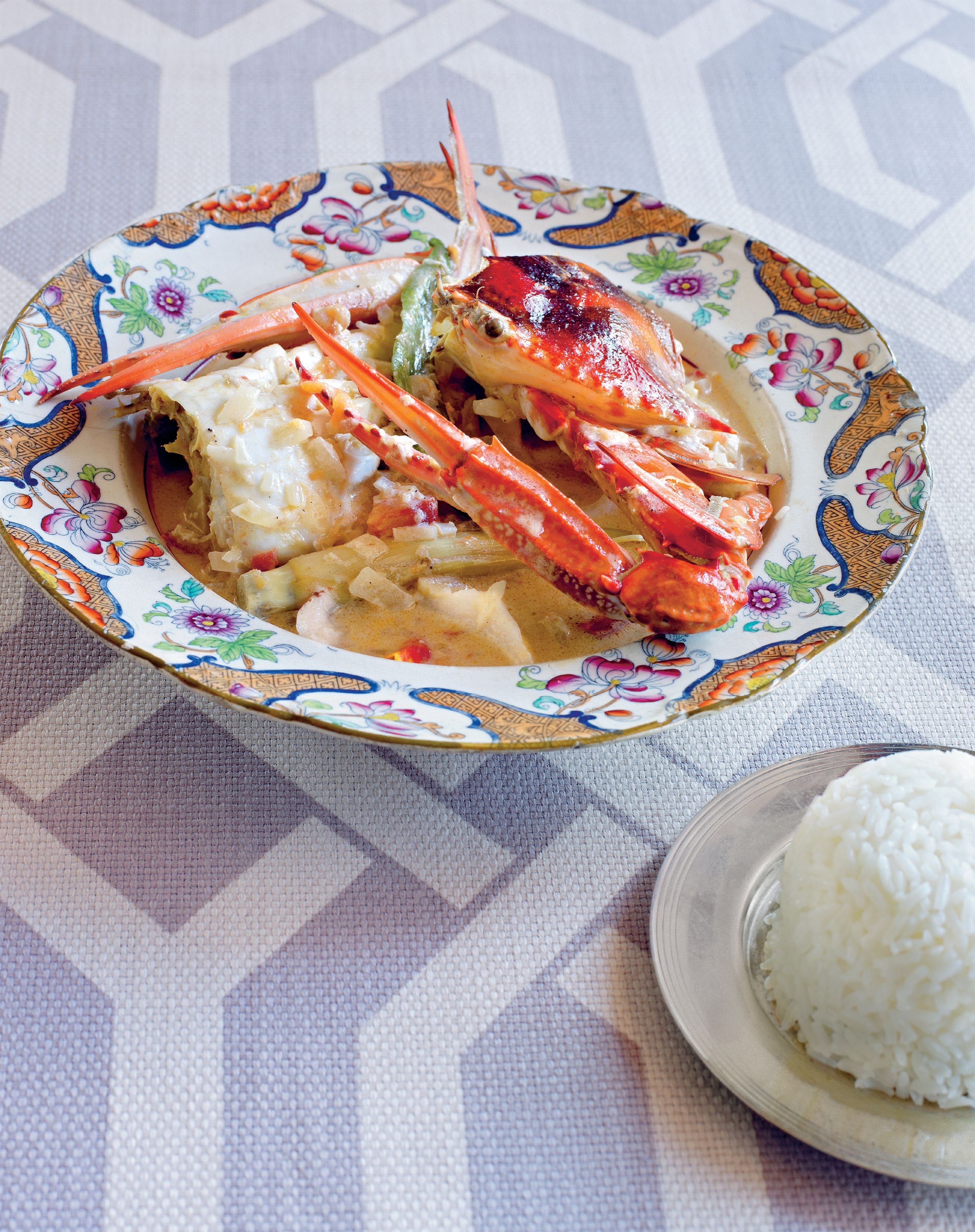 Crab and young coconut ginataan