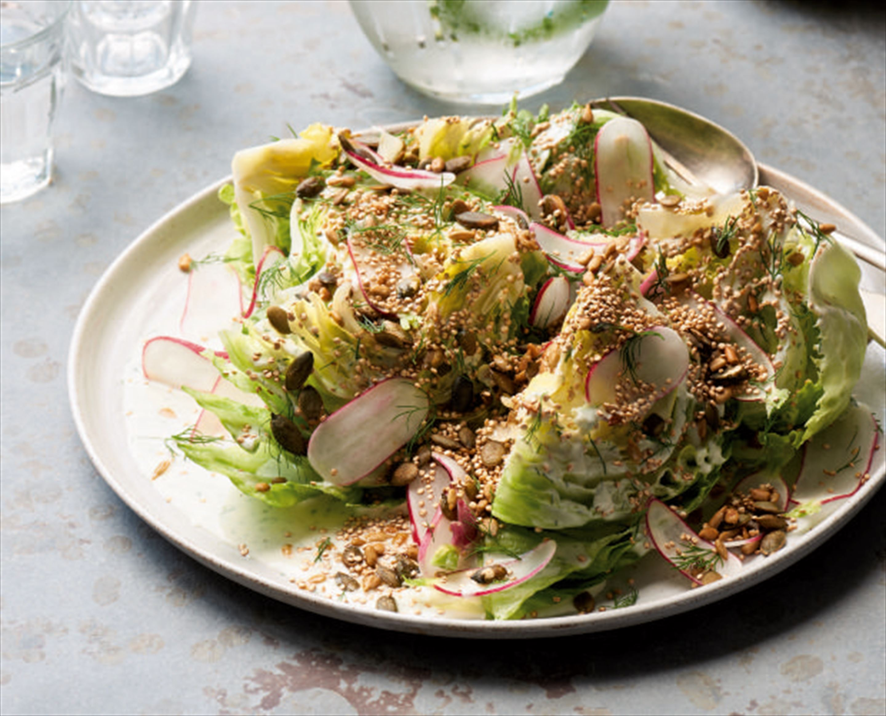 Buttermilk, dill and soy-seed wedge salad