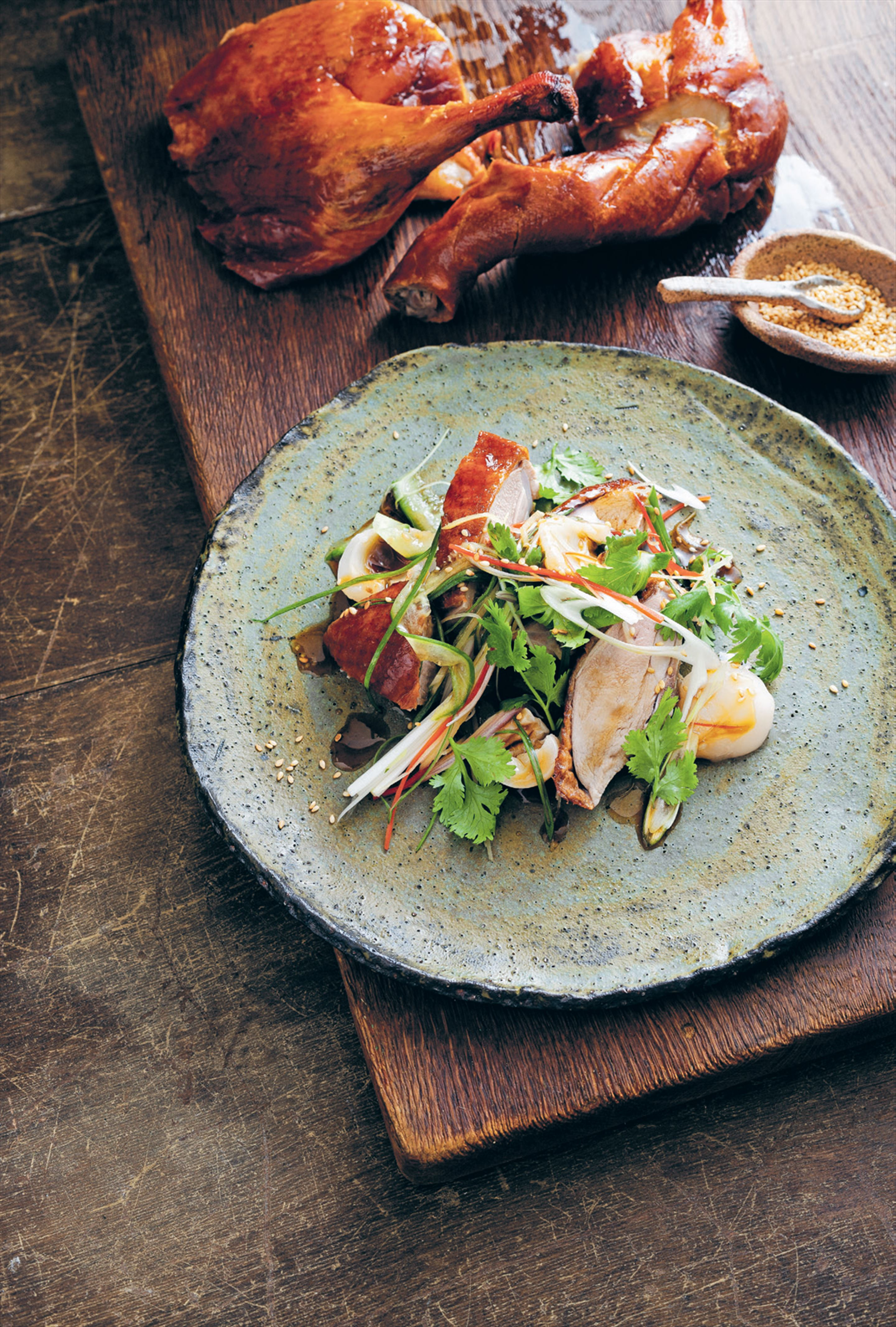 Crisp duck and lychee salad