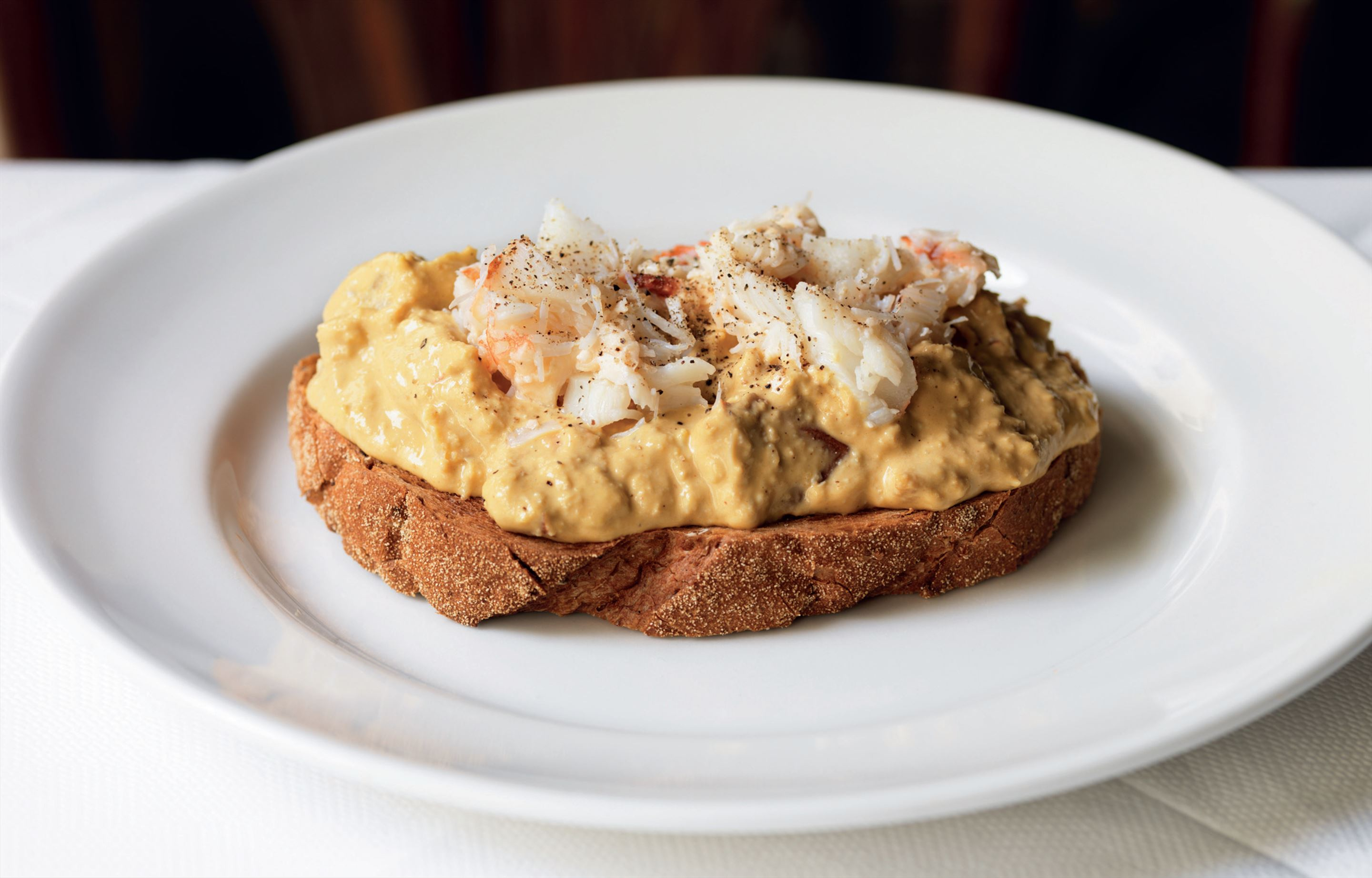 Dorset crab on toast