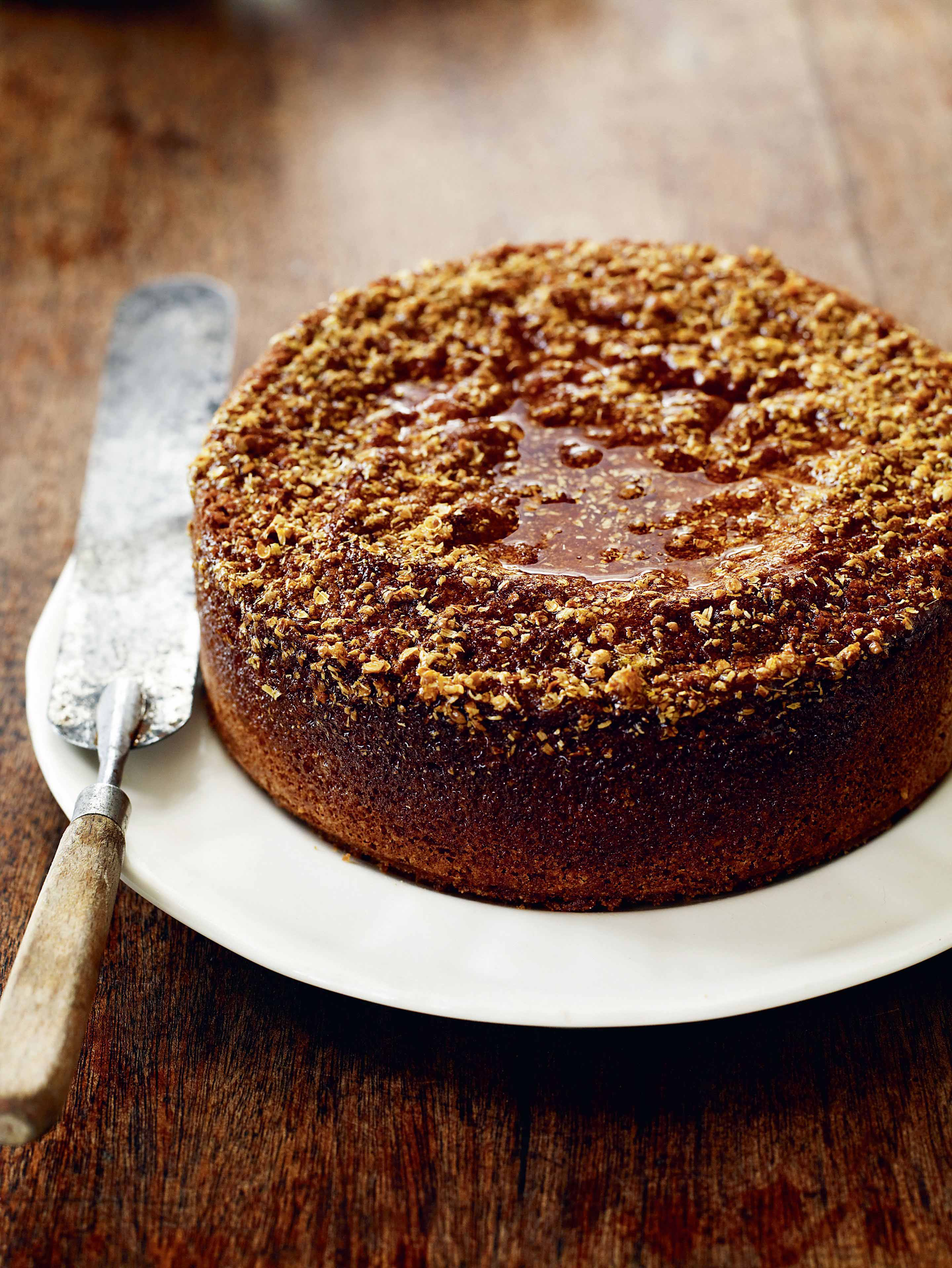 Honey cake with coriander seed, spelt & orange