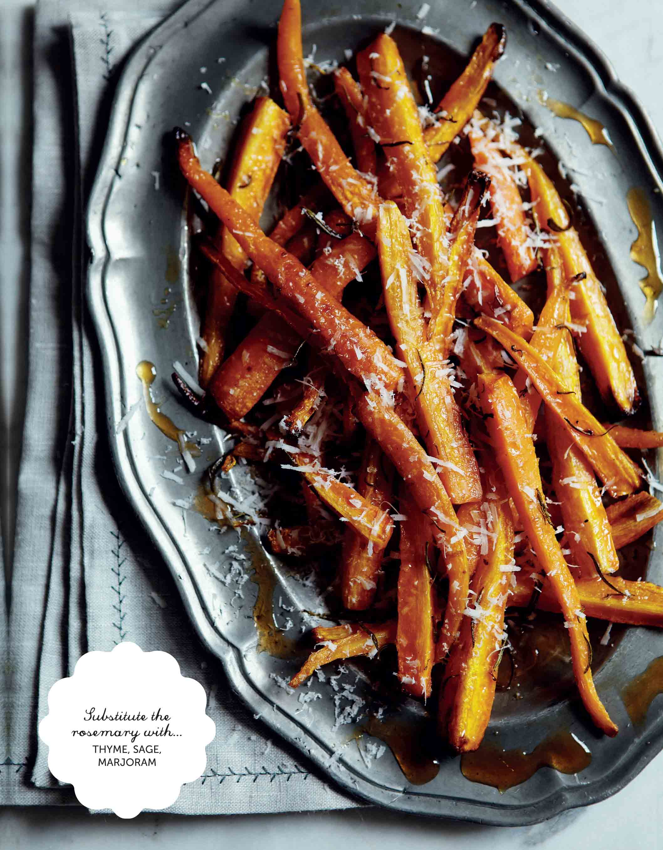 Chilli and rosemary carrot spears