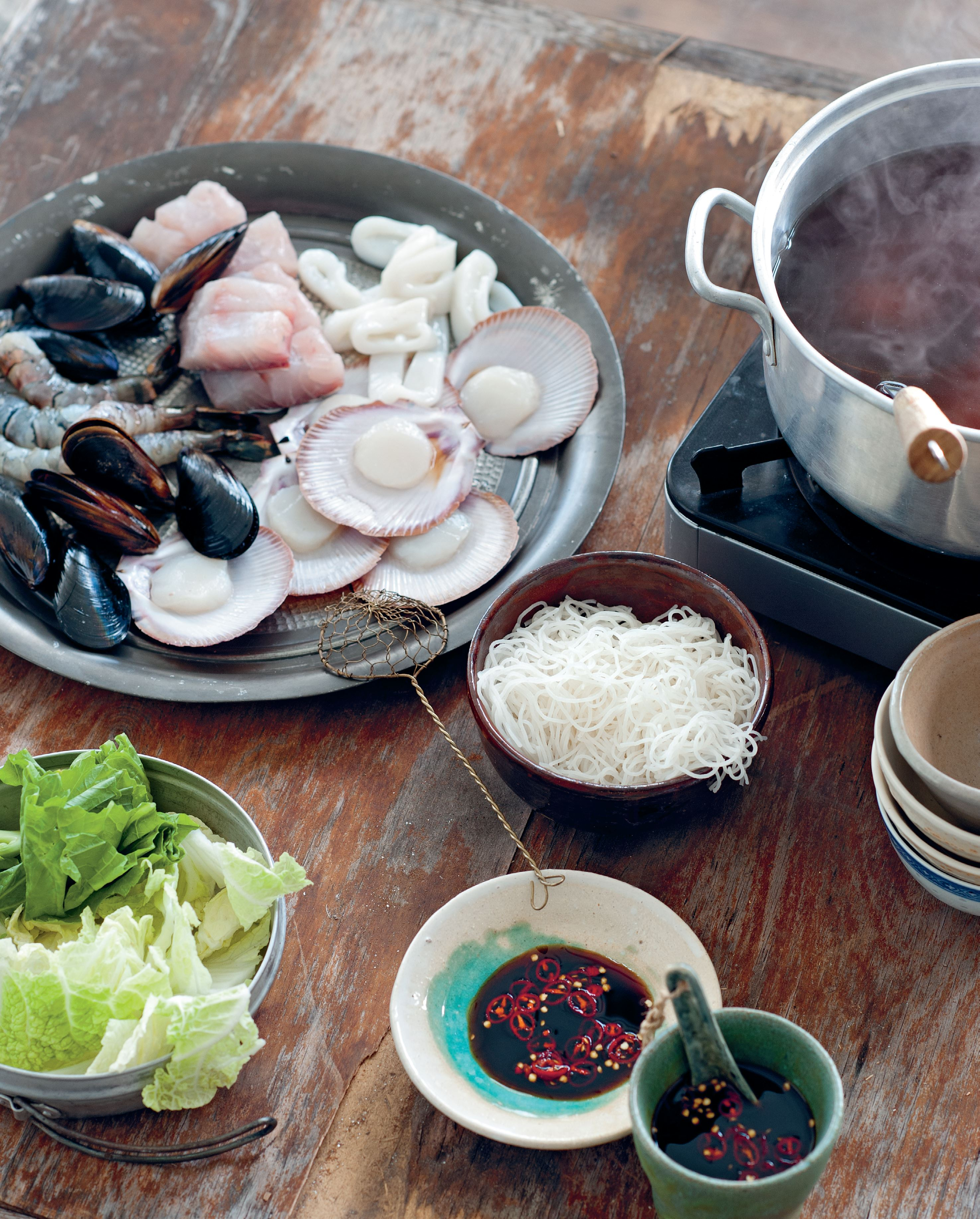 Phan Thiet family seafood steamboat