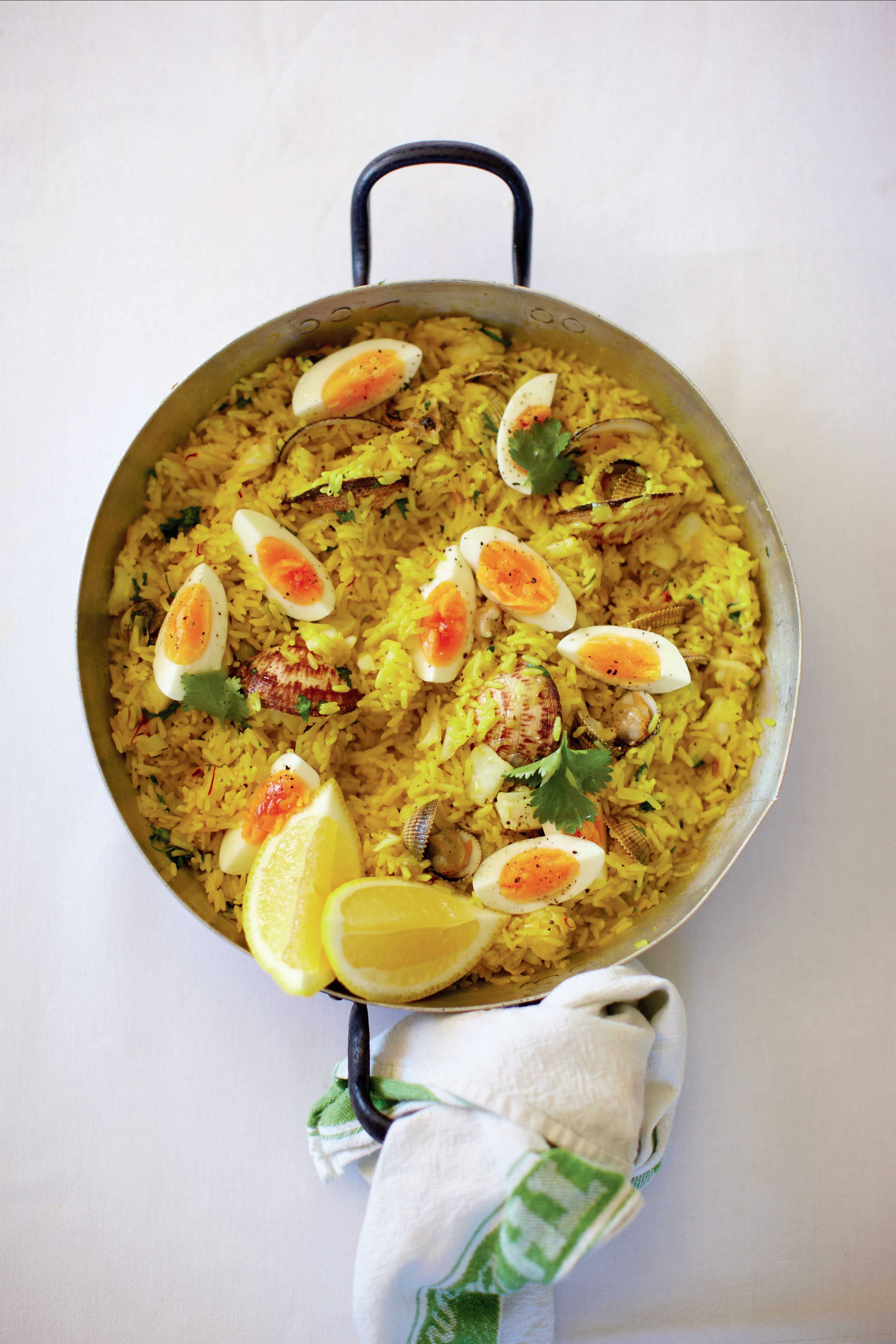 Cockle and clam kedgeree
