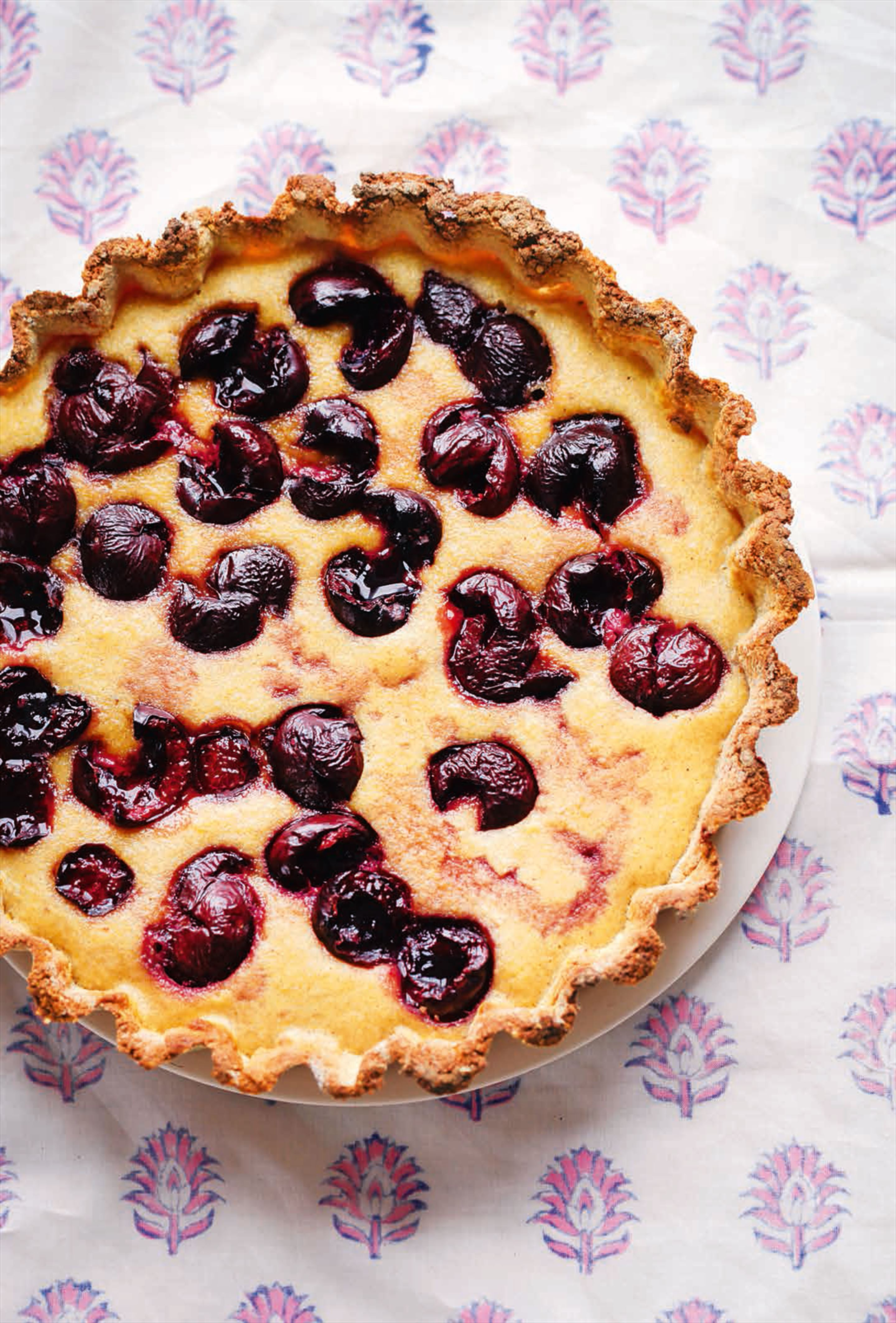 Cherry & almond tart