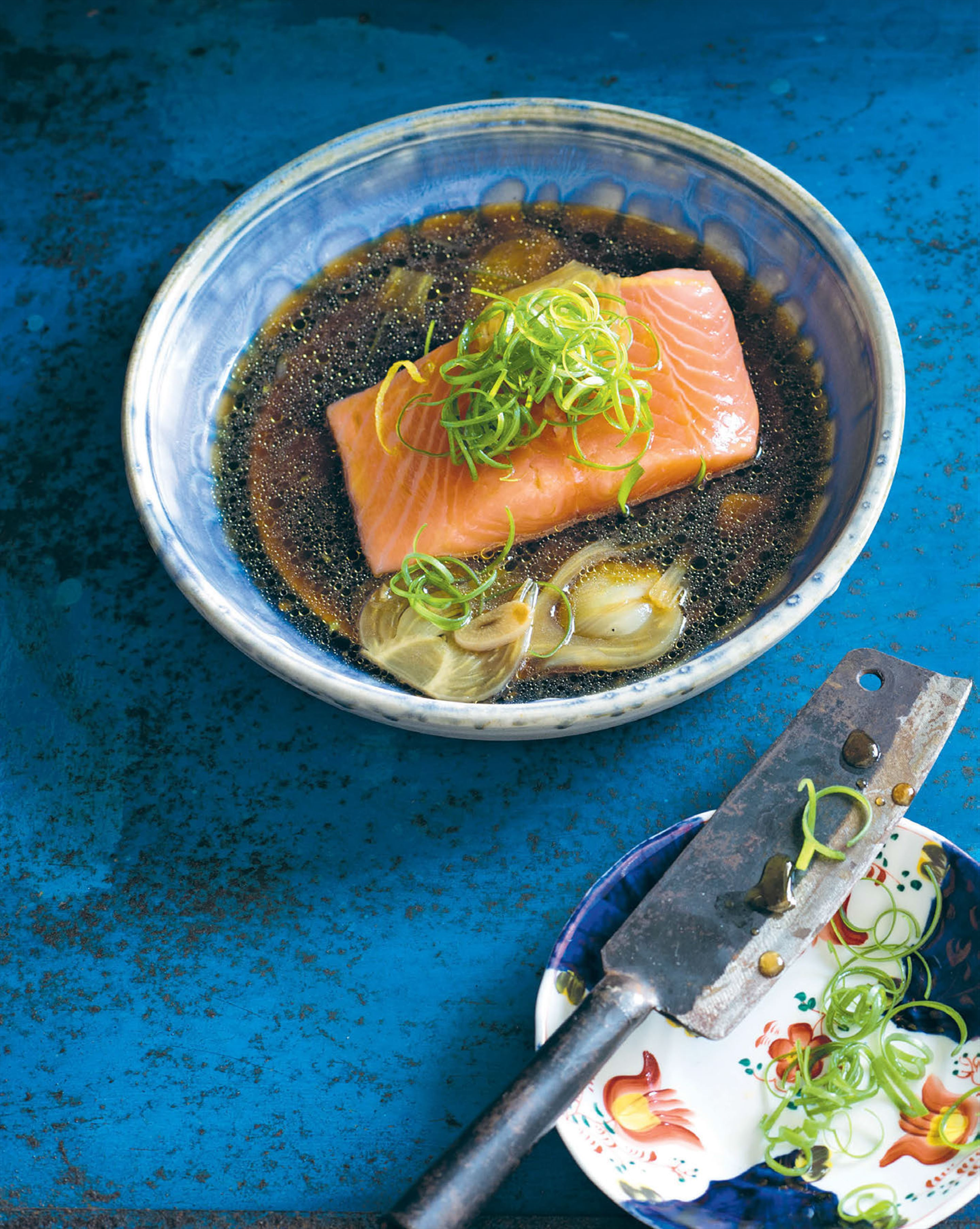 Confit of salmon with ginger oyster sauce