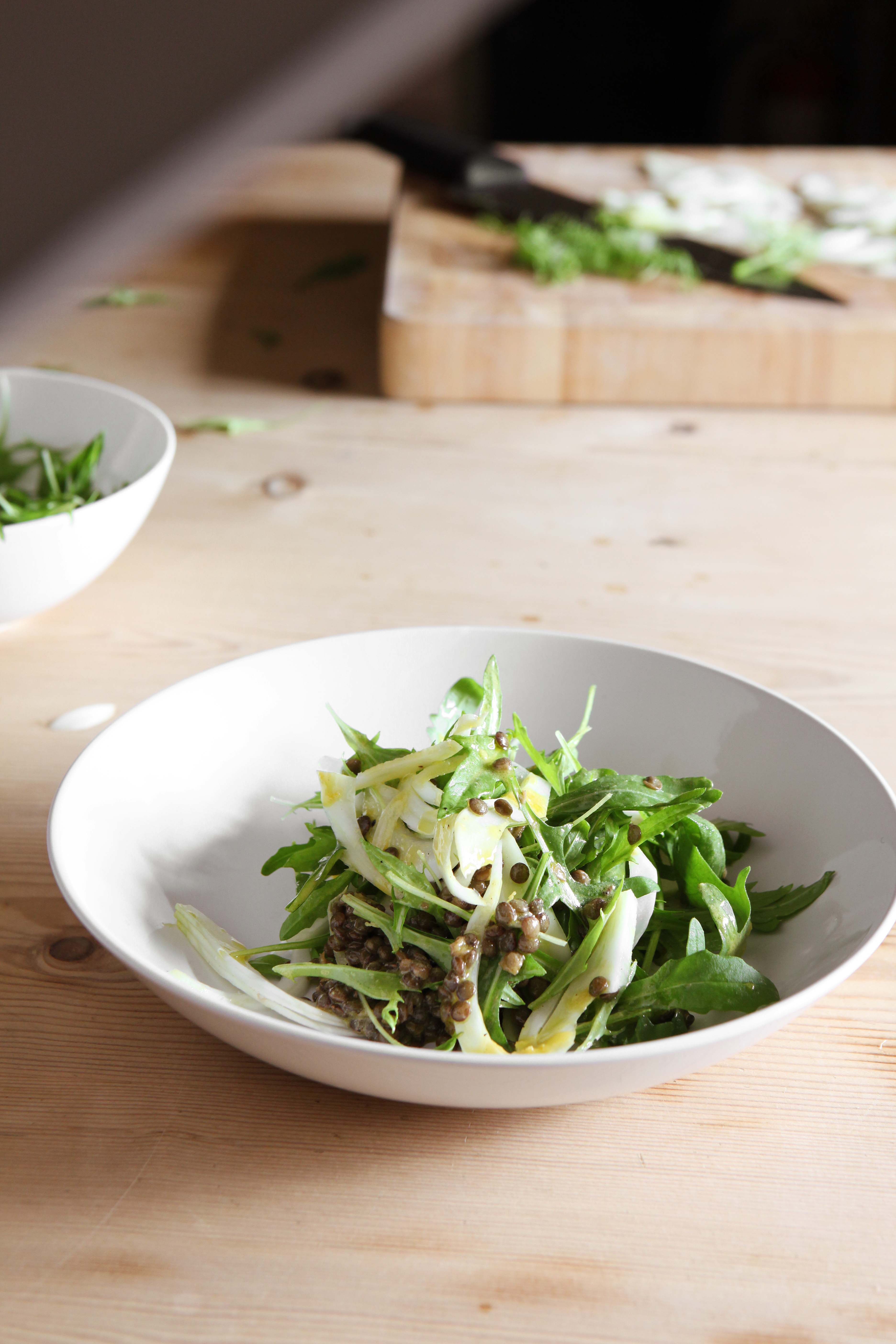 River Cottage's Rocket, fennel and puy lentil salad