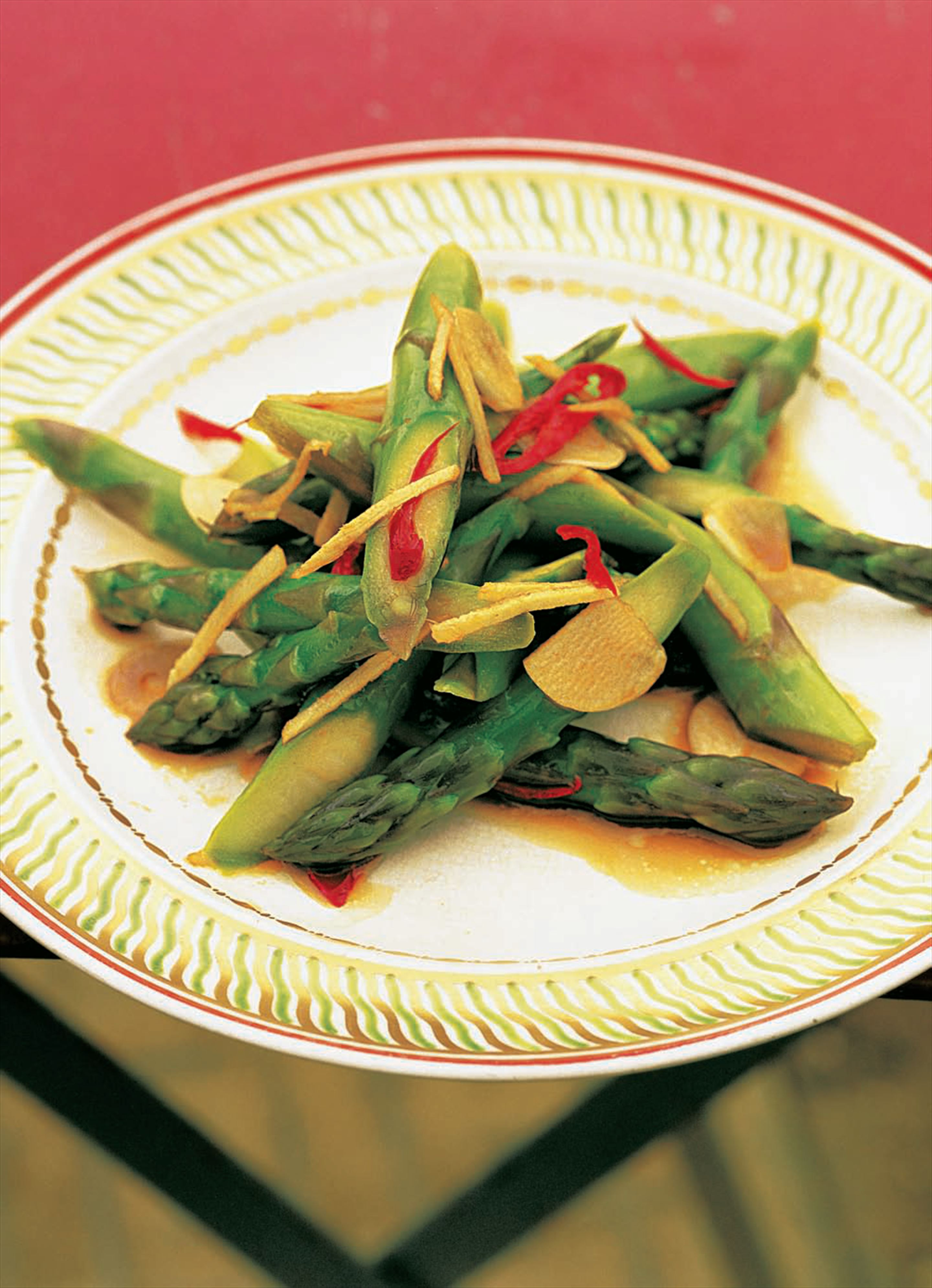 Asparagus with ginger and garlic