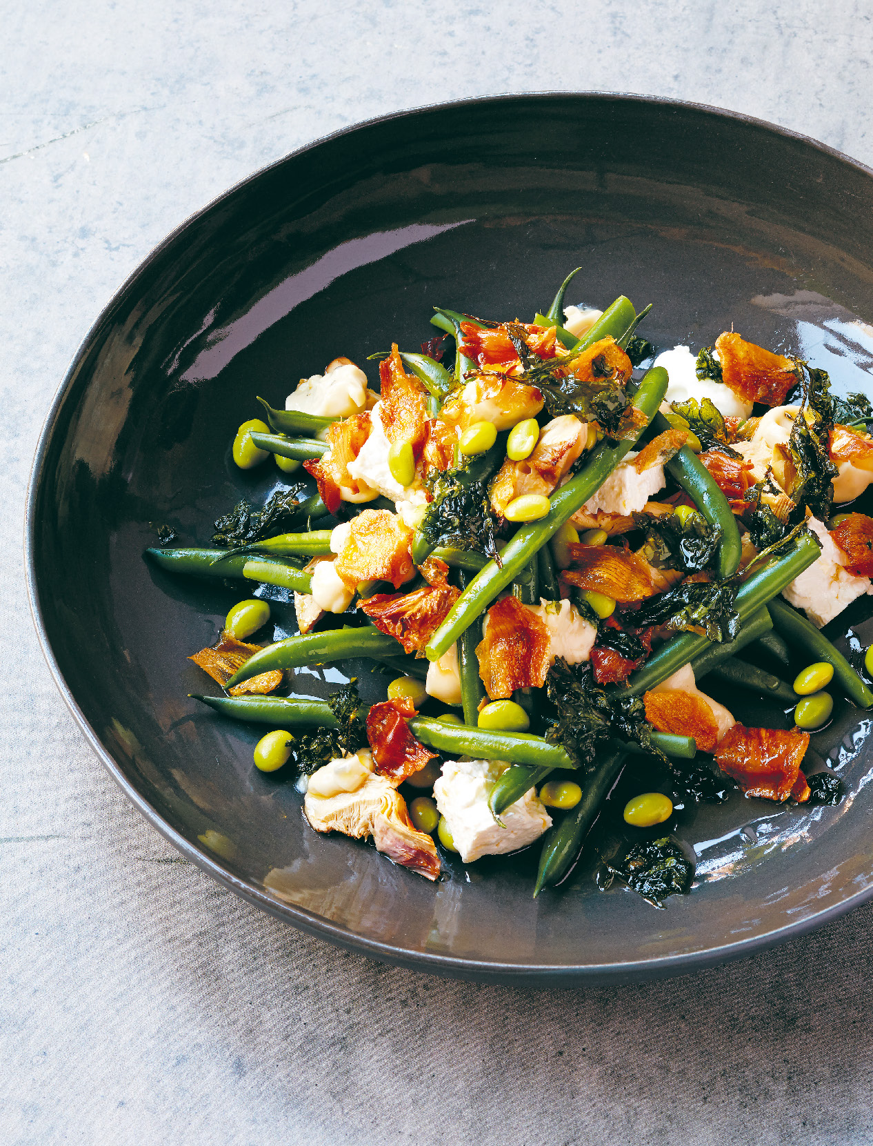 Artichoke and green bean salad