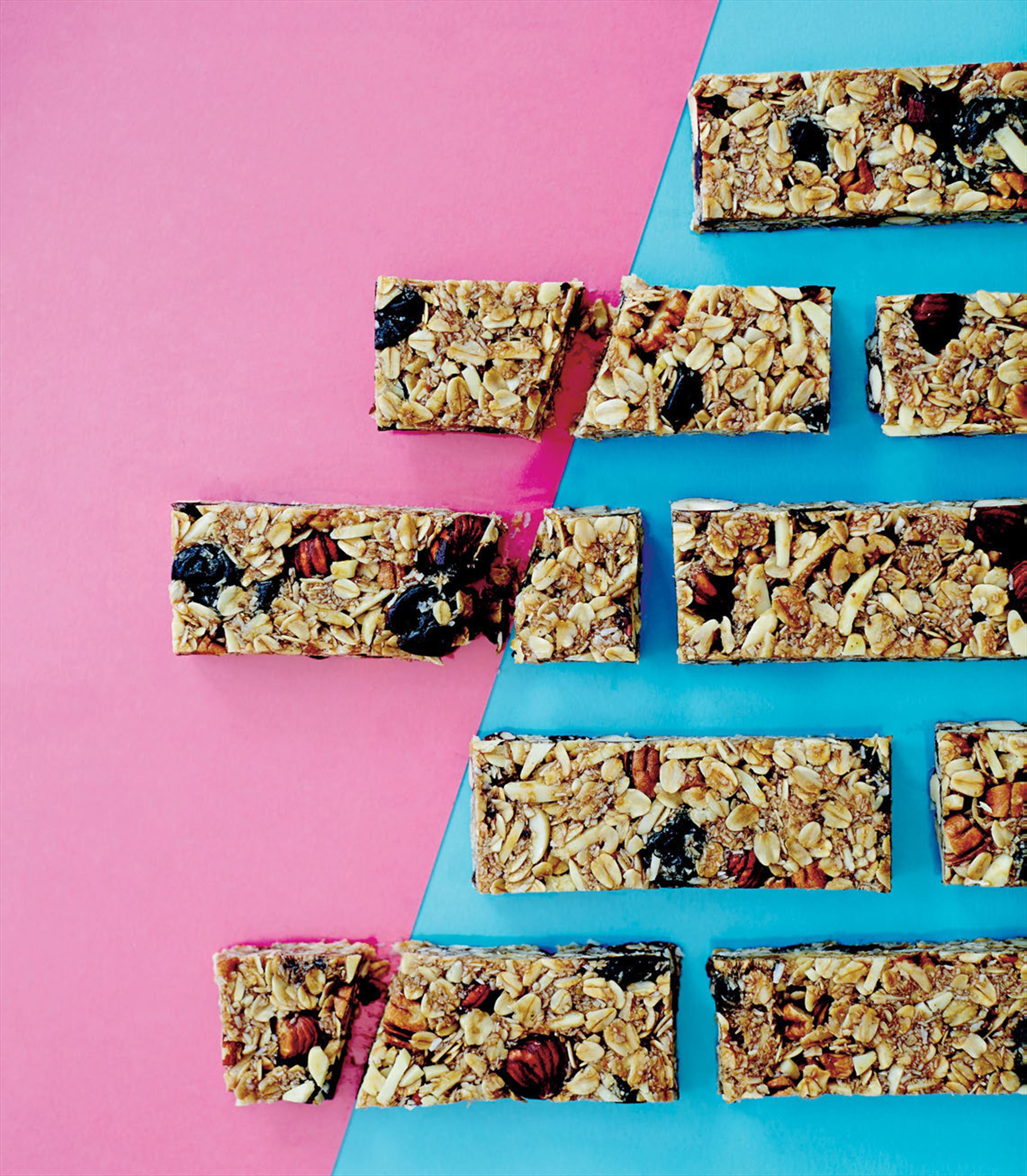 Super-easy cherry hazelnut energy bars