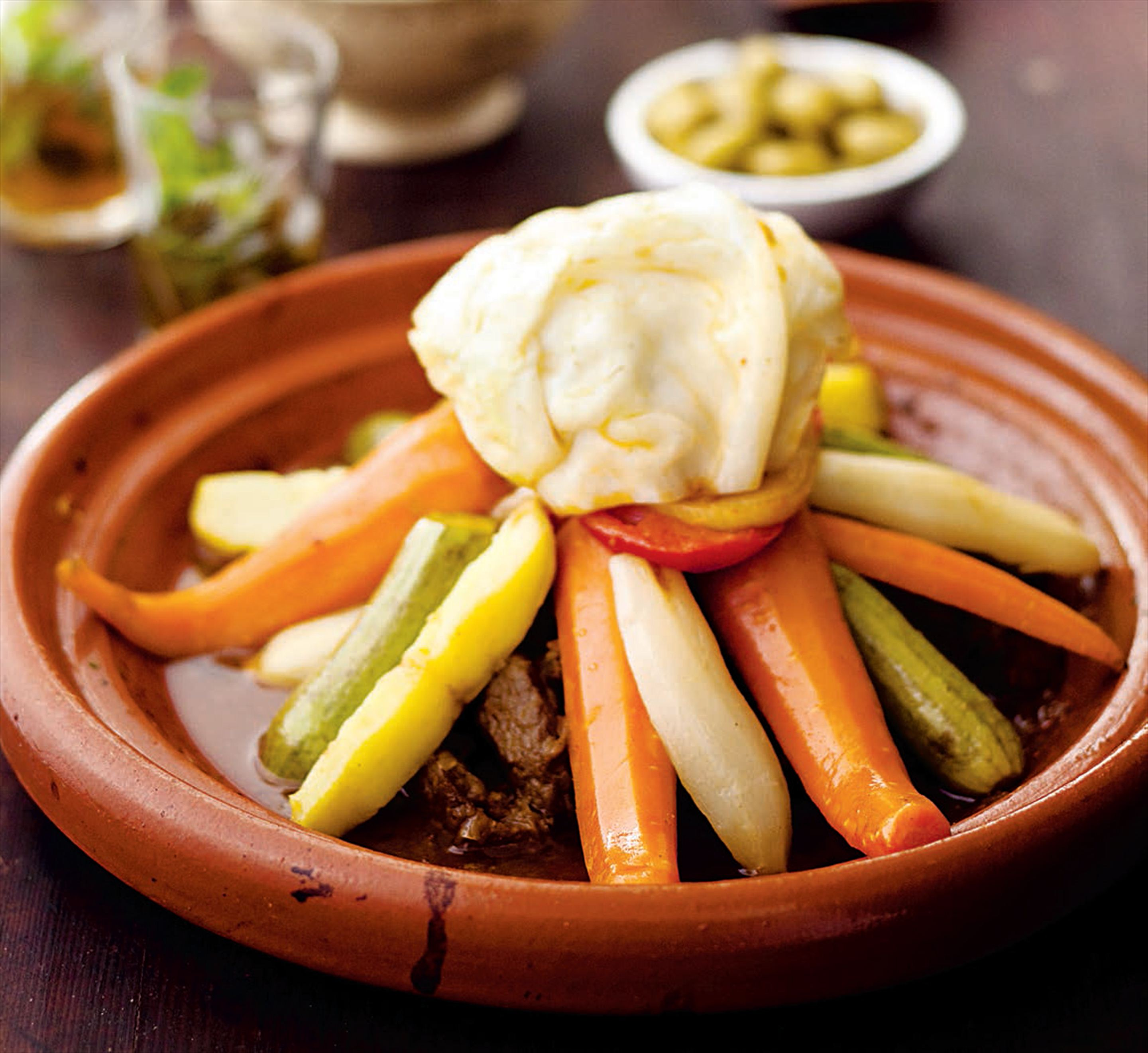 Berber meat tagine with seven vegetables