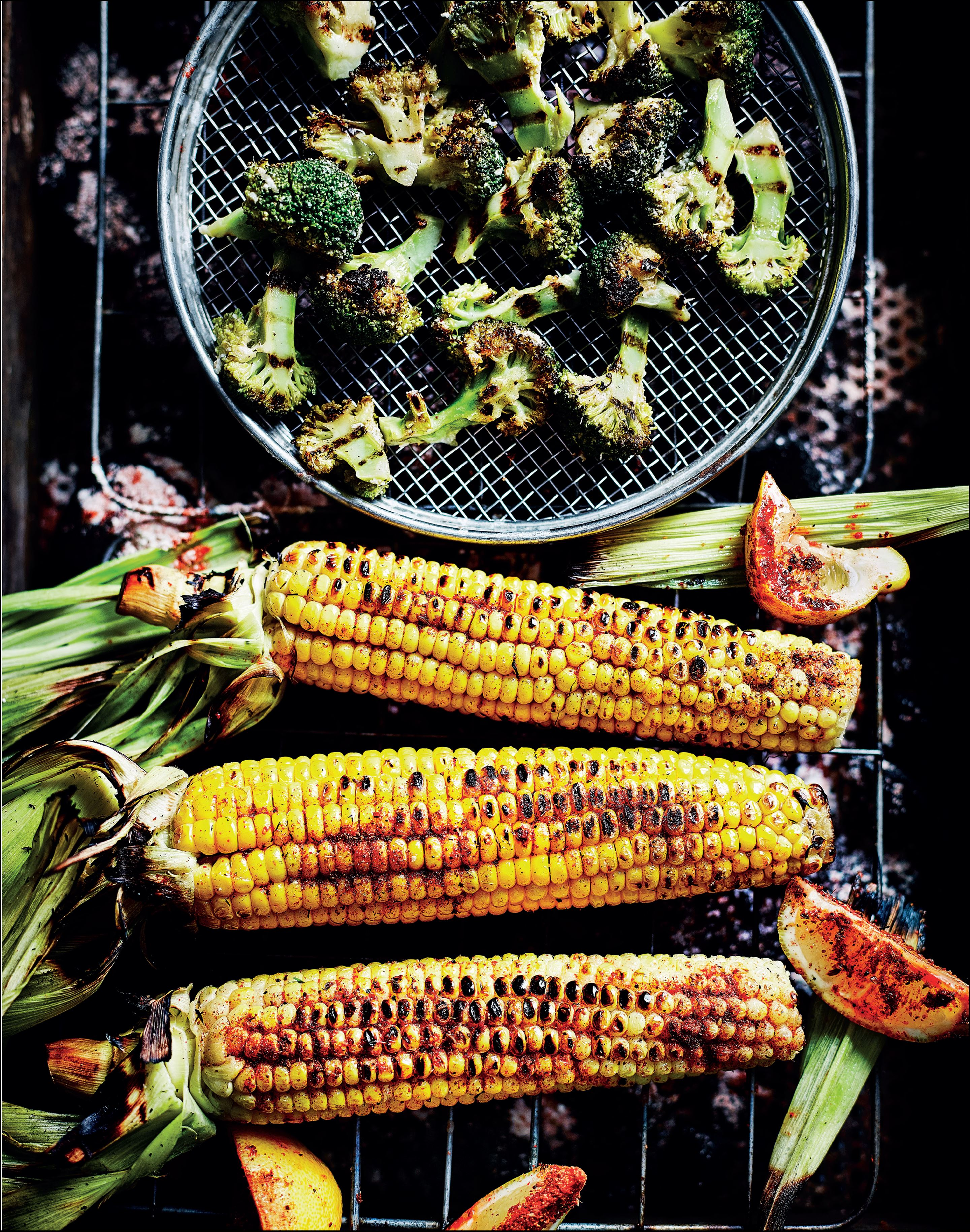 Flame-grilled spiced sweetcorn