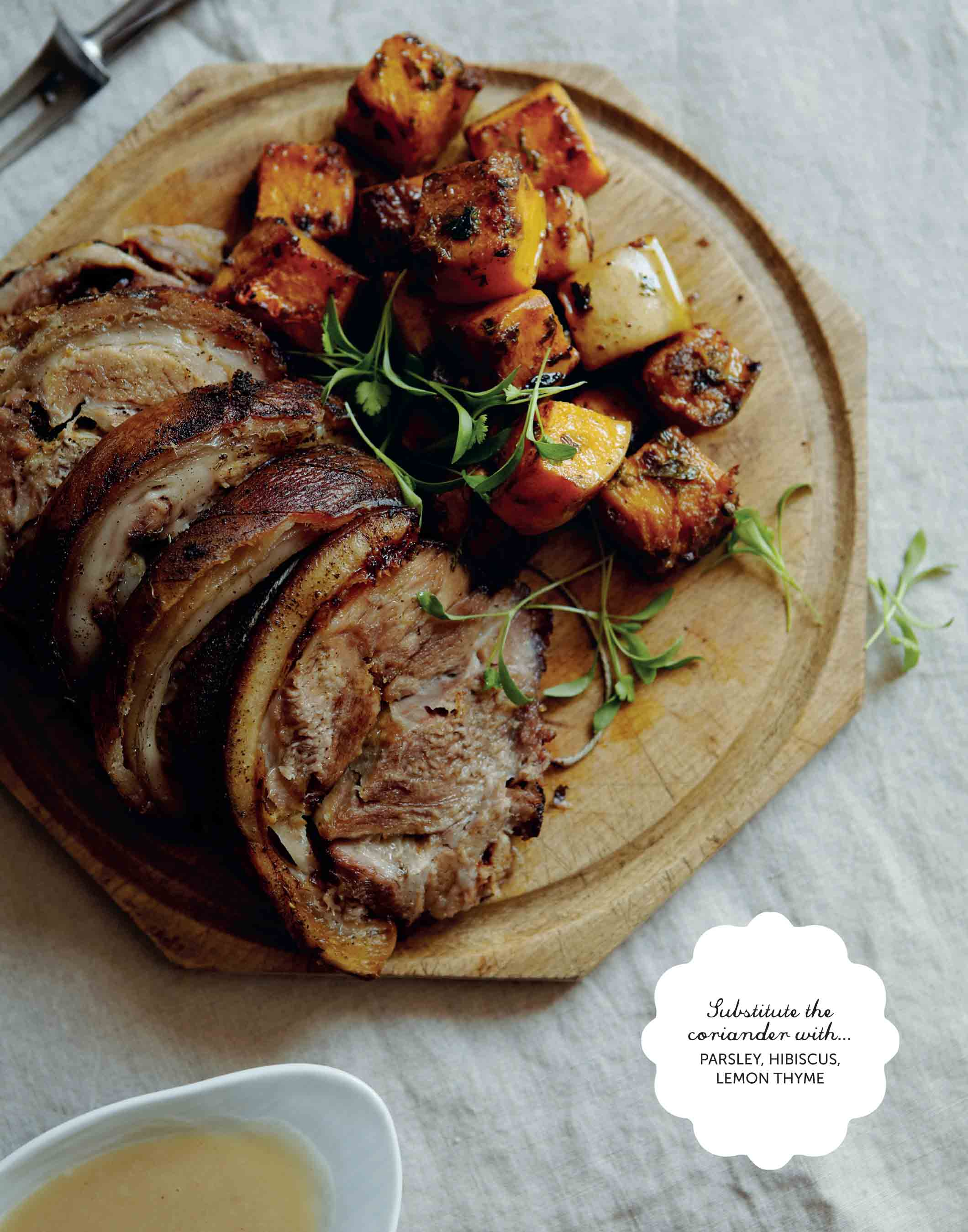 Eastern-inspired slow roast pork