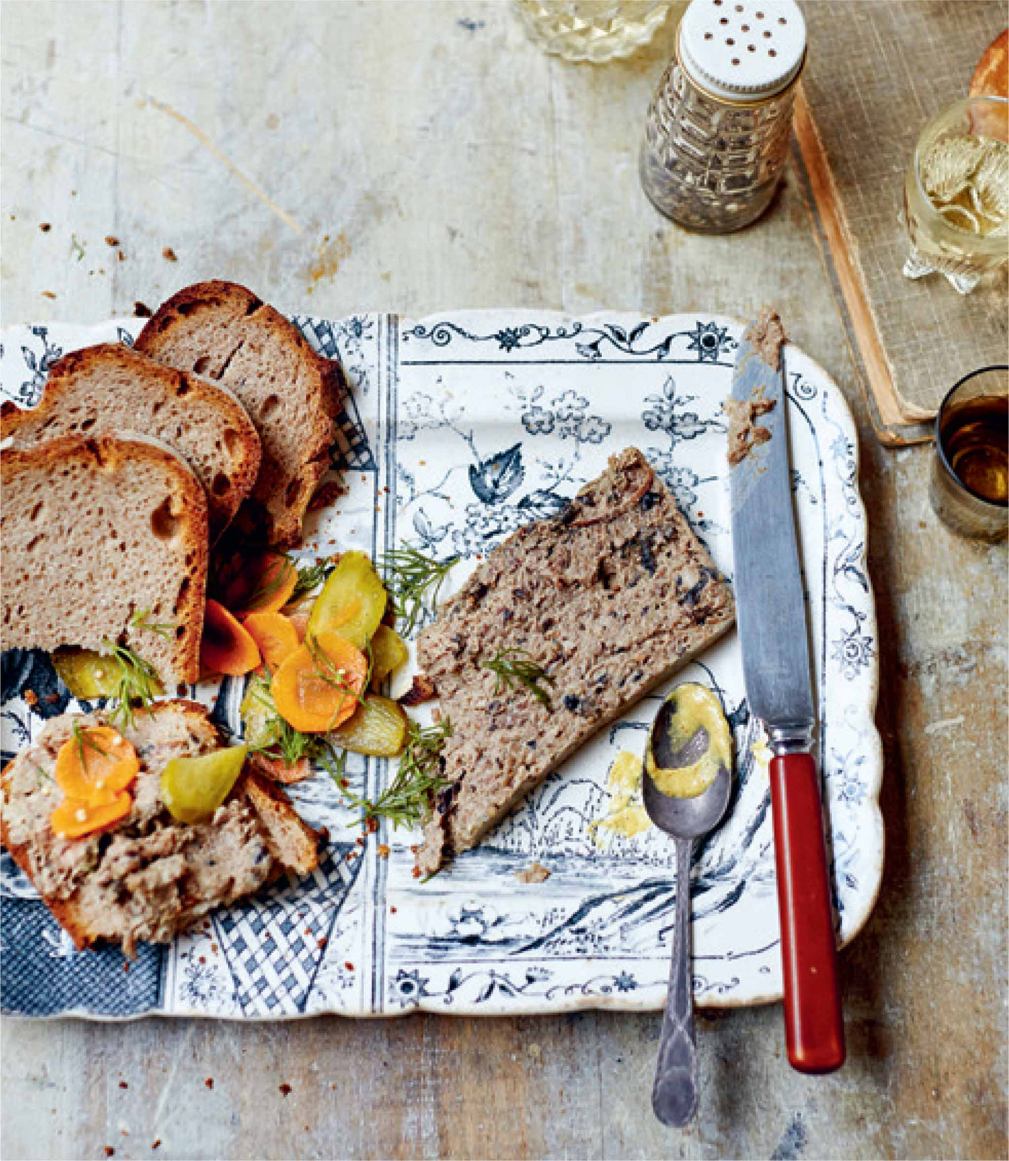 Uncle Kazik's three-meat pate with prunes