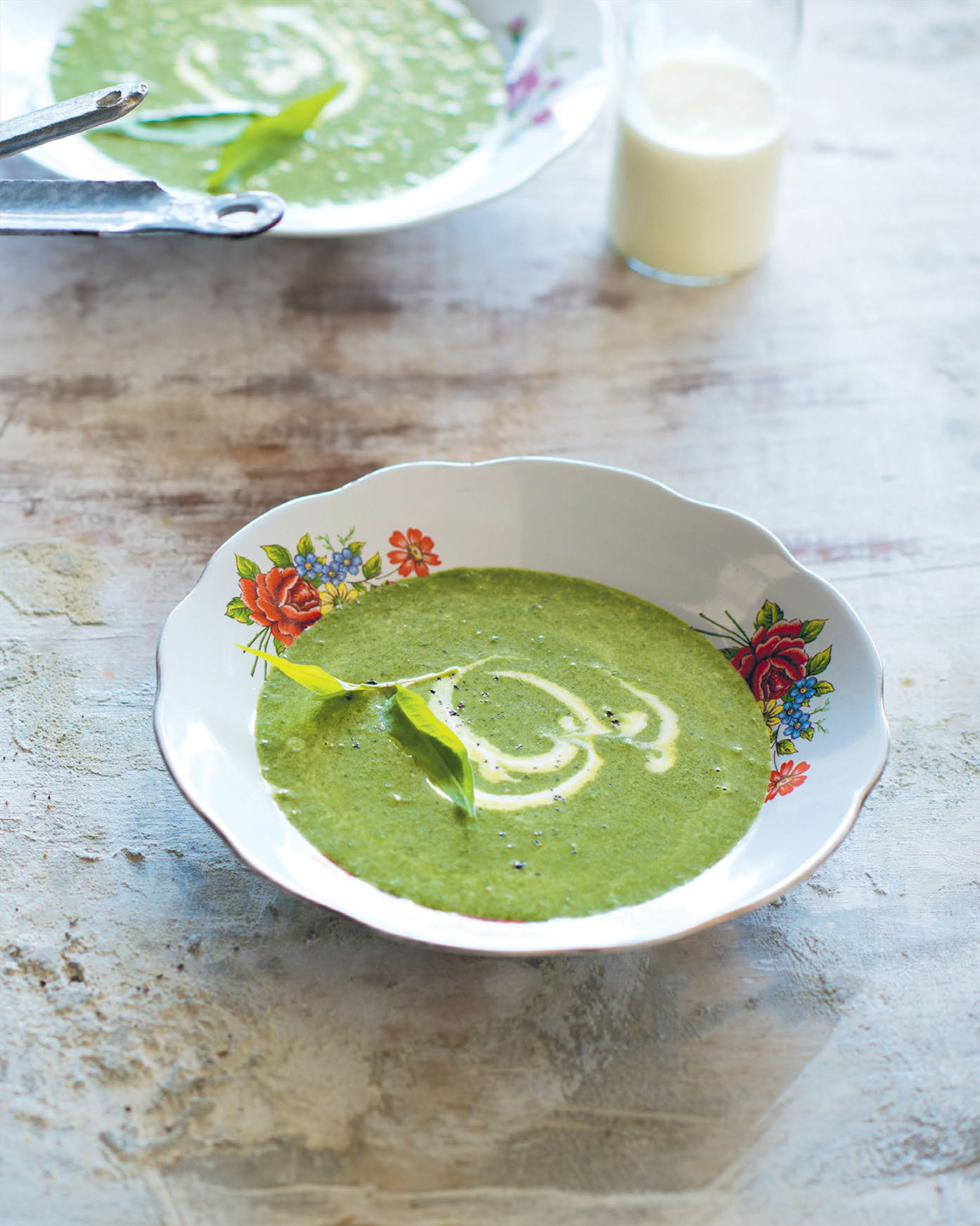 Cream of watercress & Vietnamese mint soup