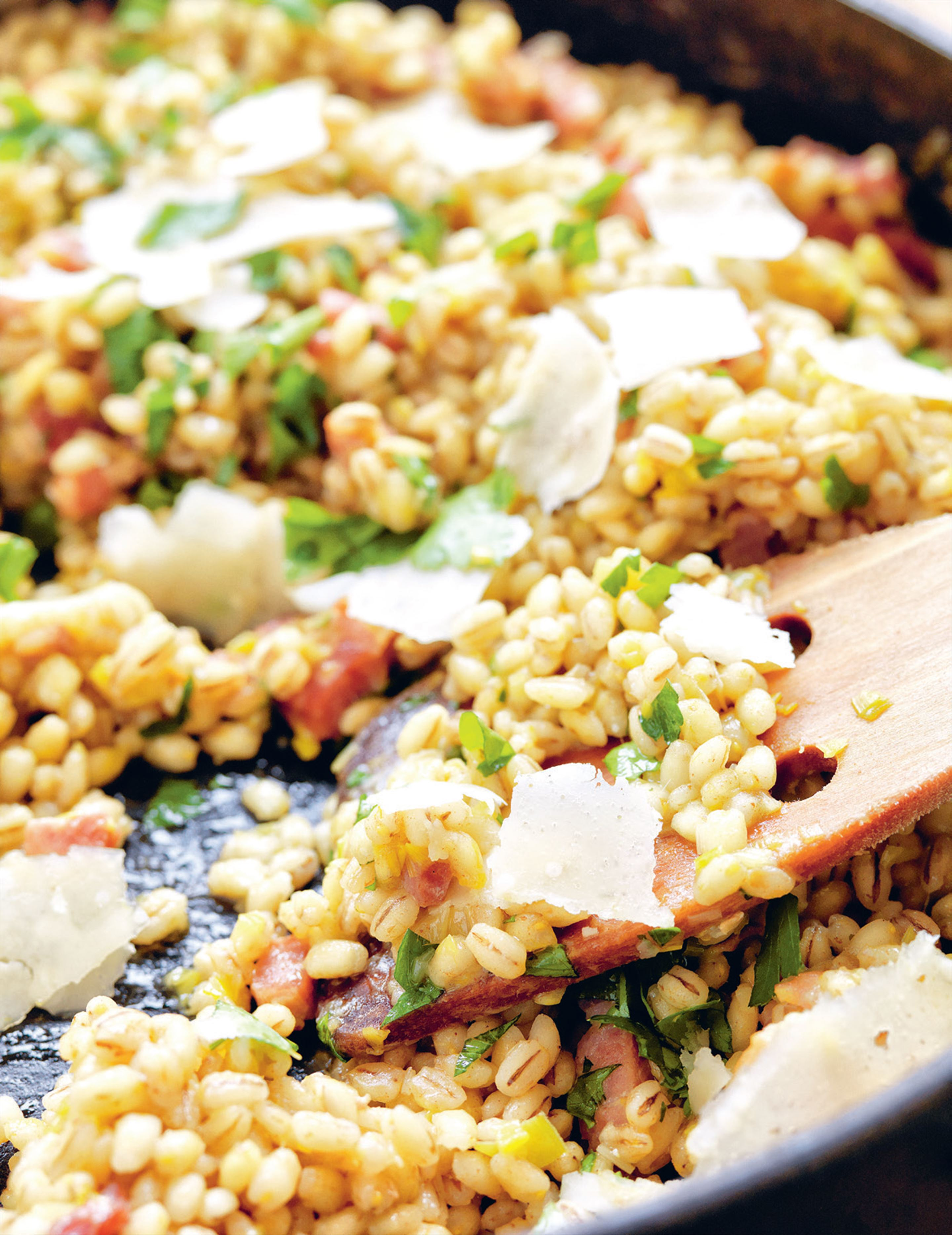 Barley, smoked bacon & leek risotto