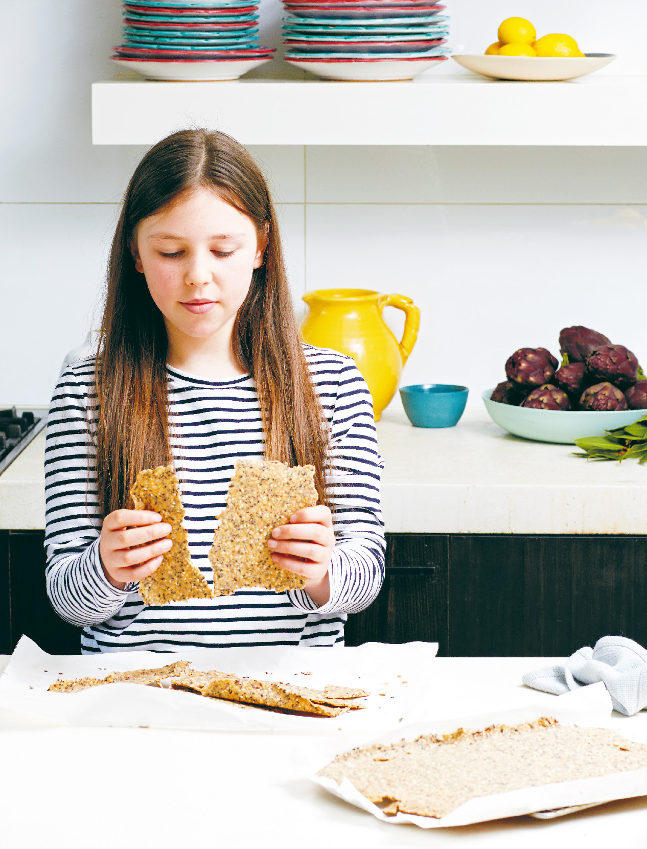 Milla's spelt and seed crackers