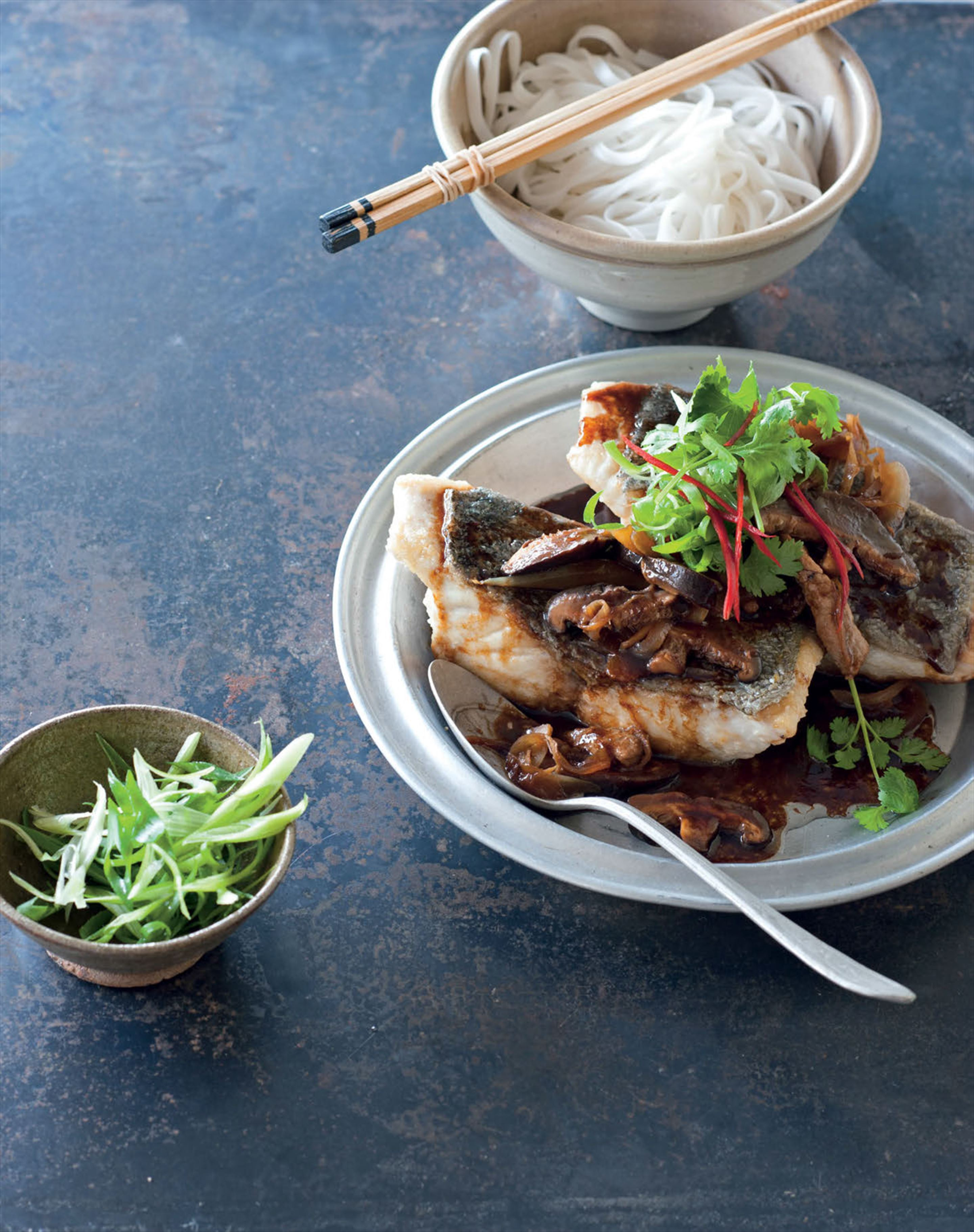 Fish with pork and ginger