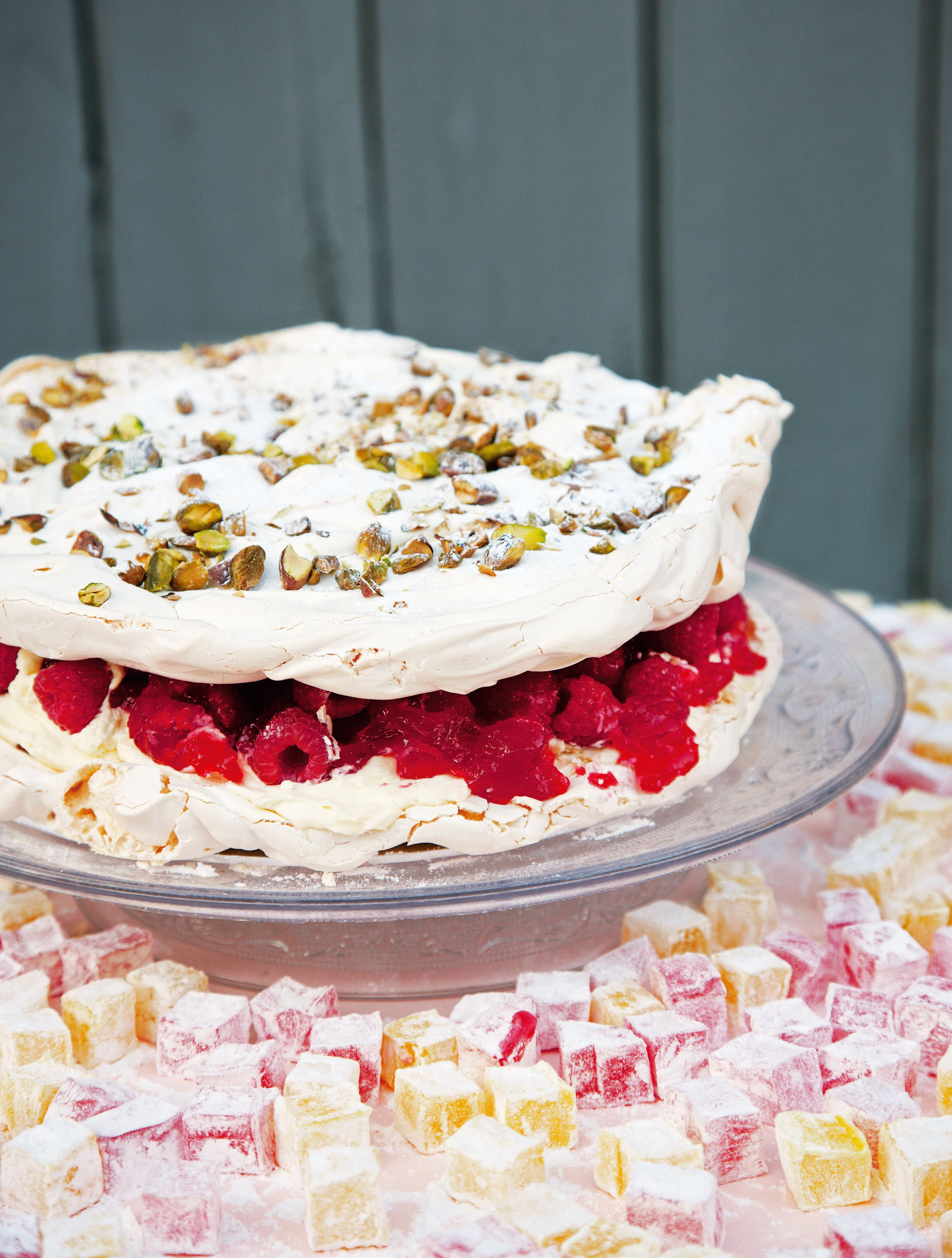 Turkish delight meringue