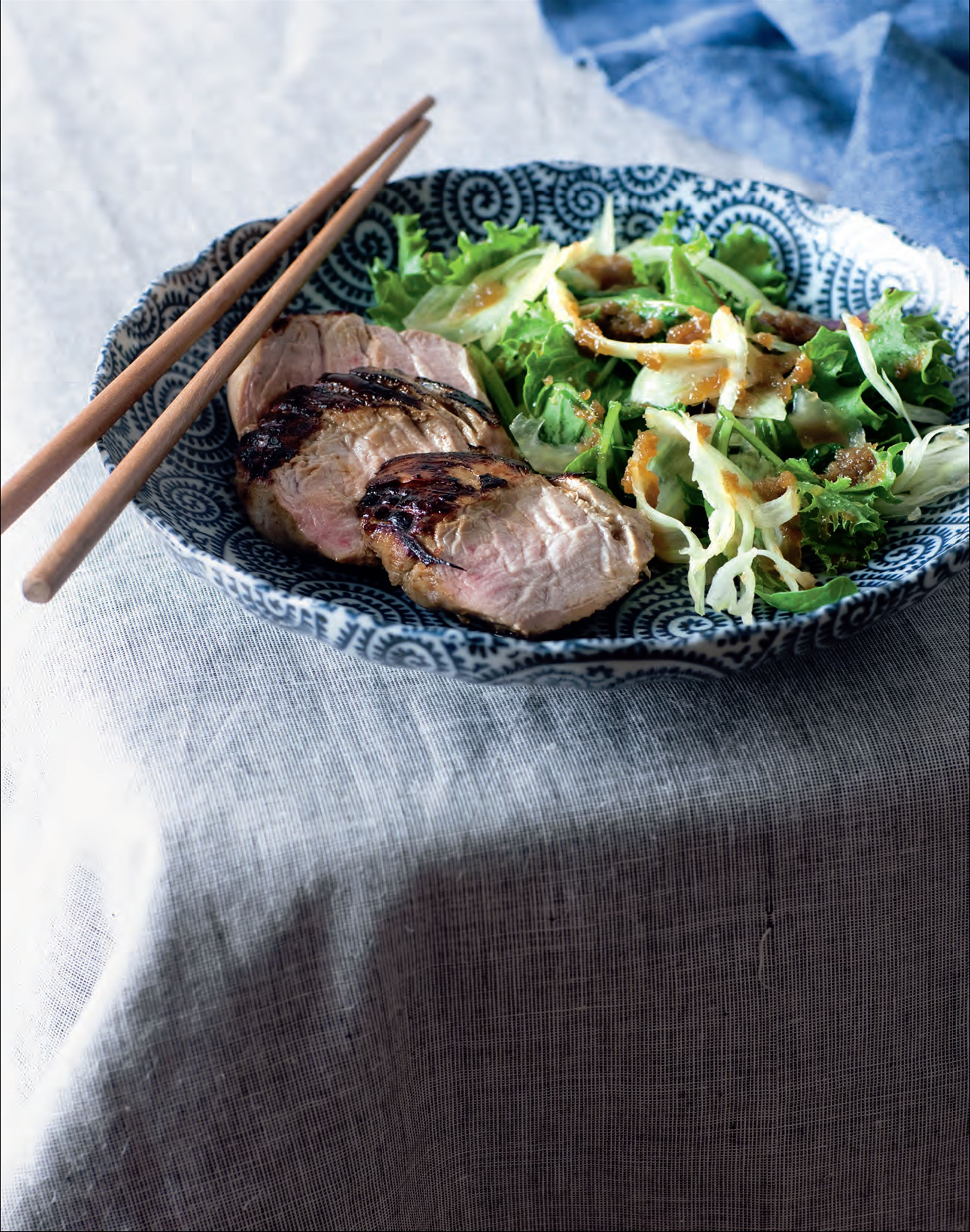 Japanese pork with onion dressing