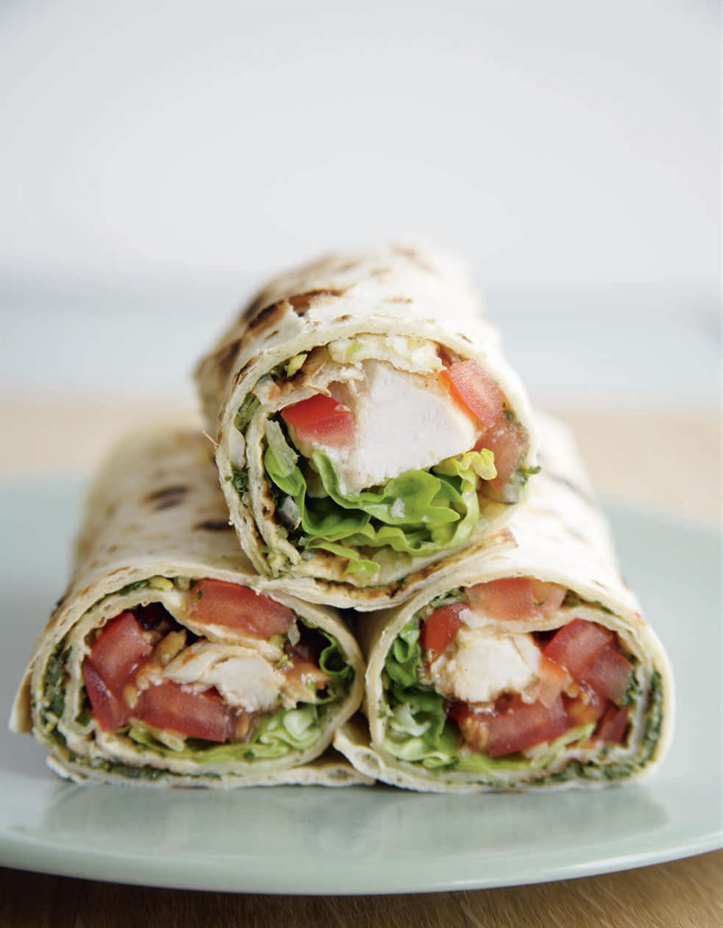 Succulent chicken tikka wraps