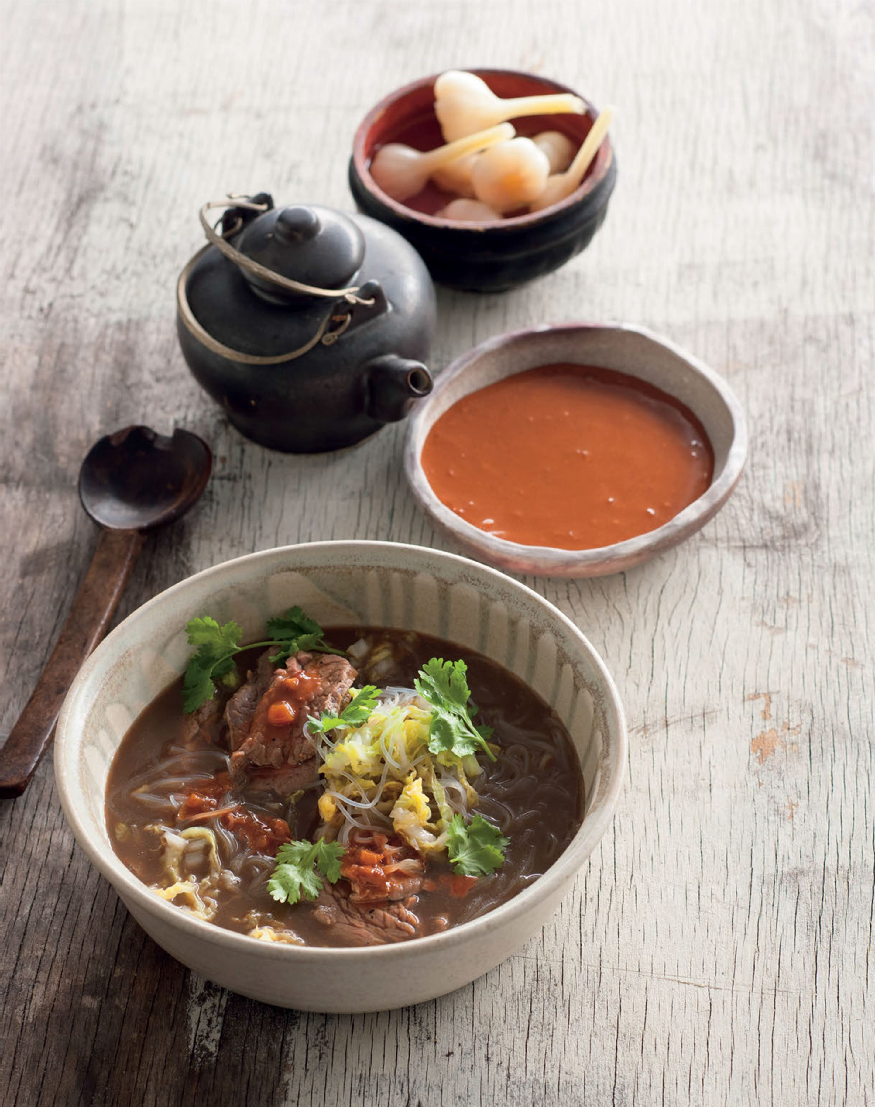 Beef and fermented tofu soup