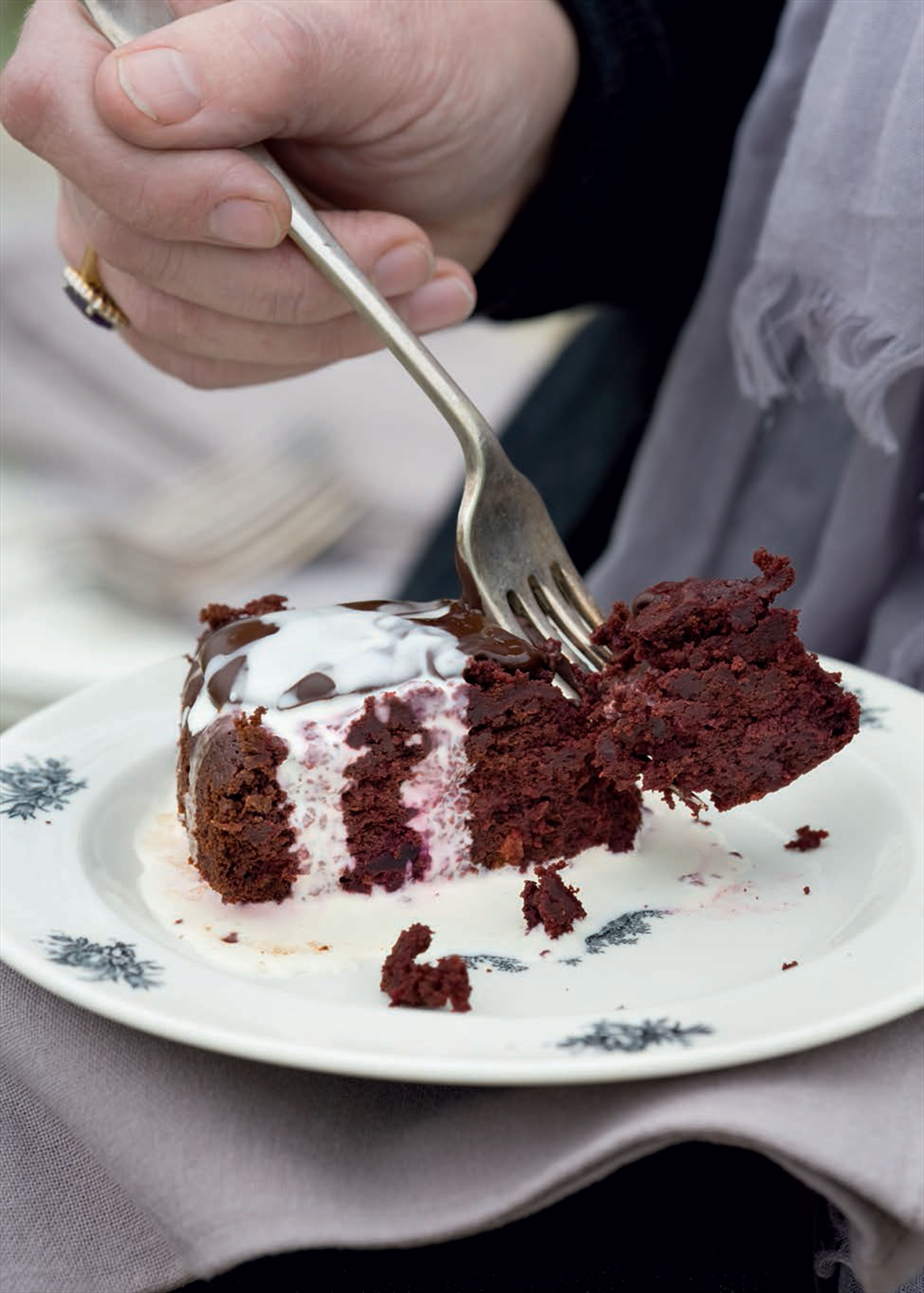 Chocolate, beetroot and orange cake
