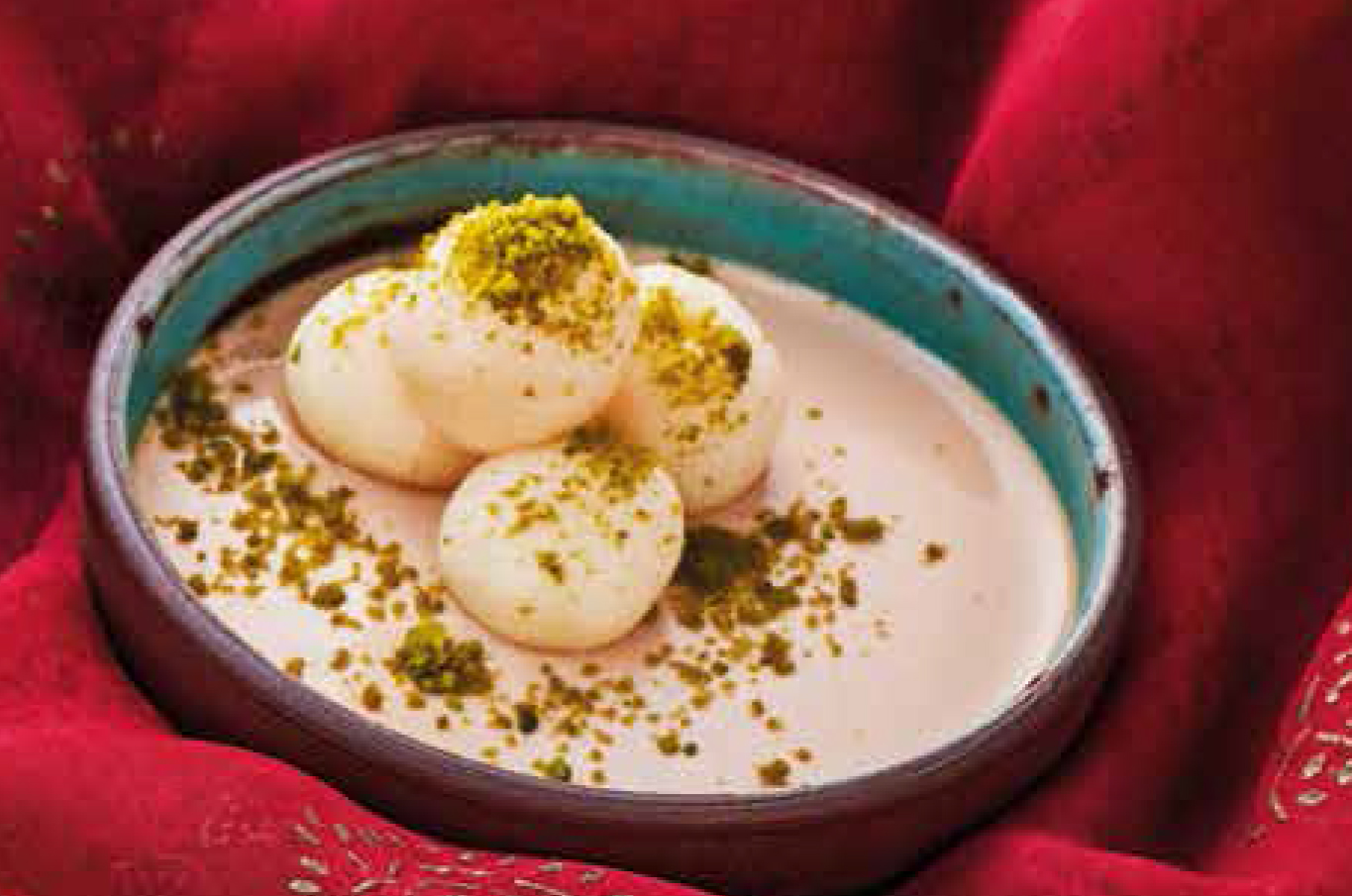 Poached milk dumplings