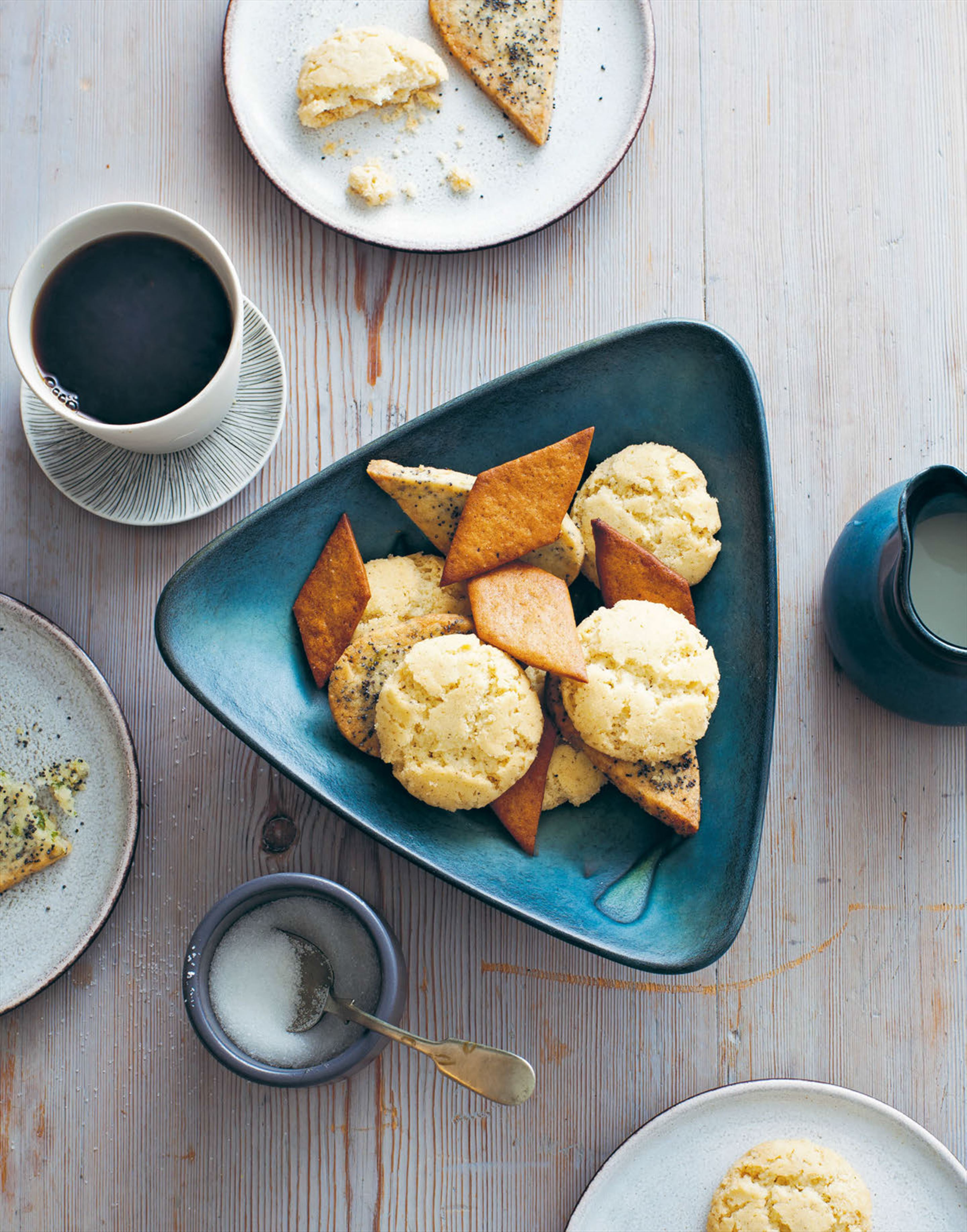 Lemon verbena & poppy seed cookies