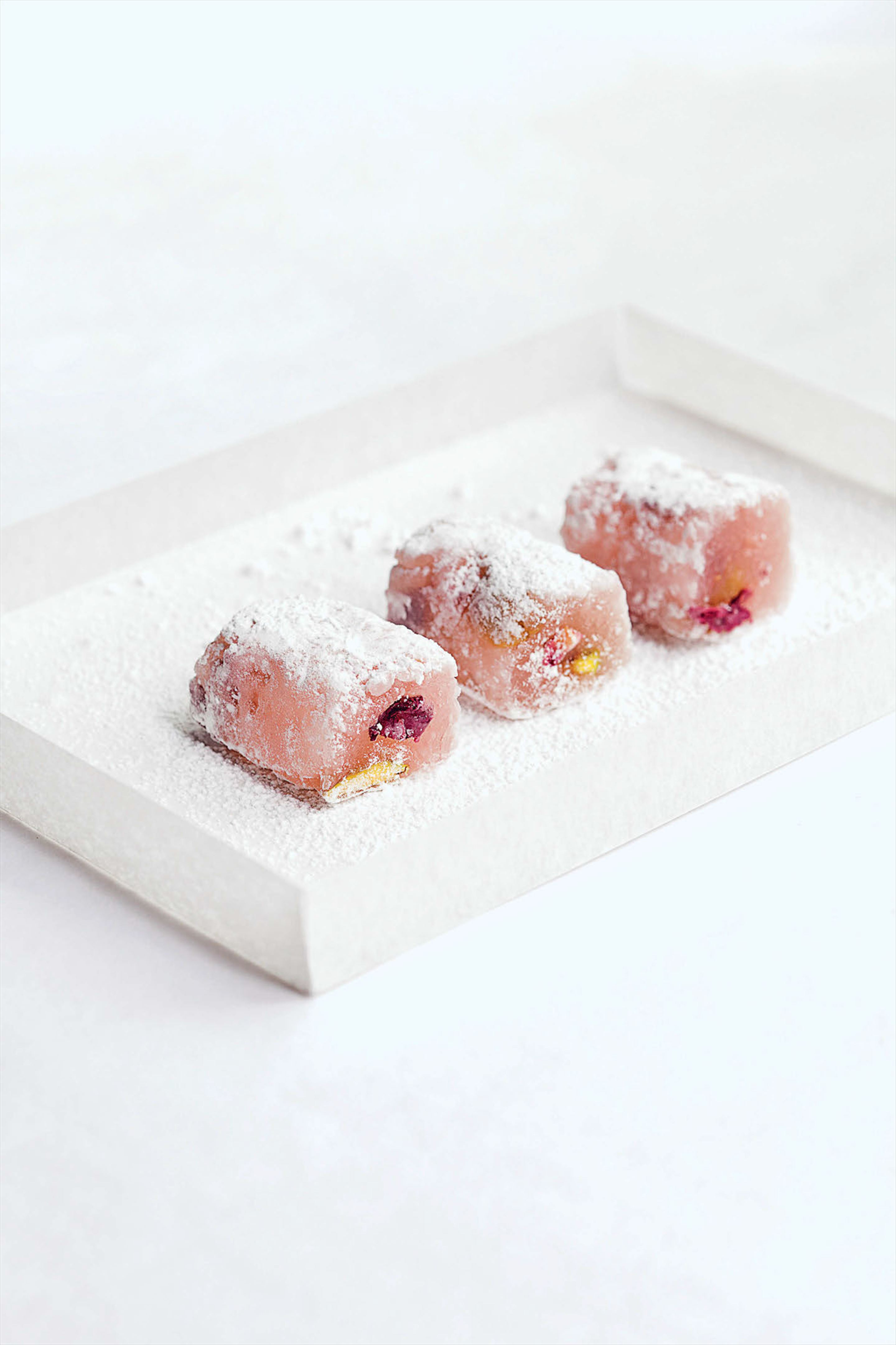 Rose petal and pistachio Turkish delight