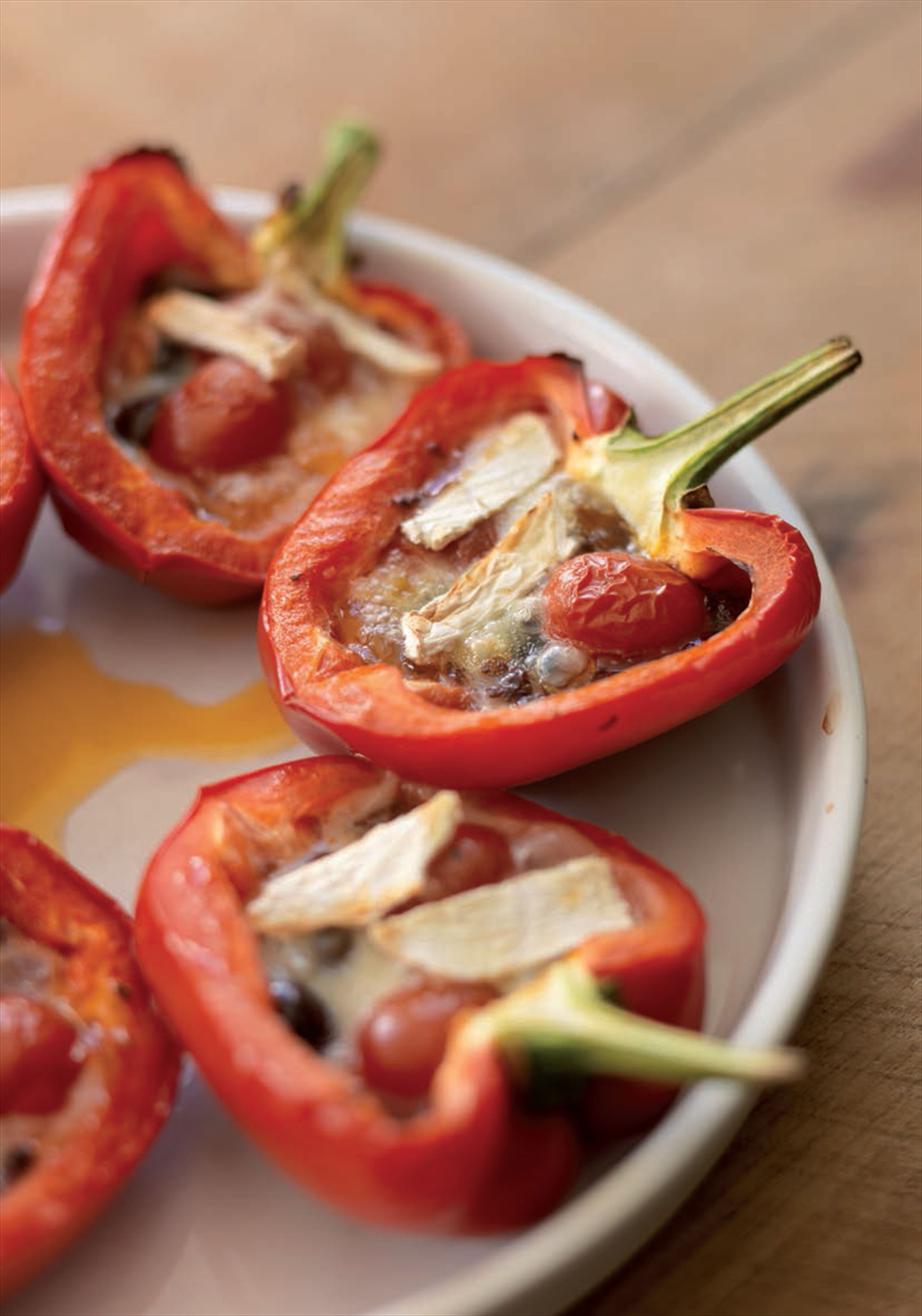 Stuffed peppers with brie