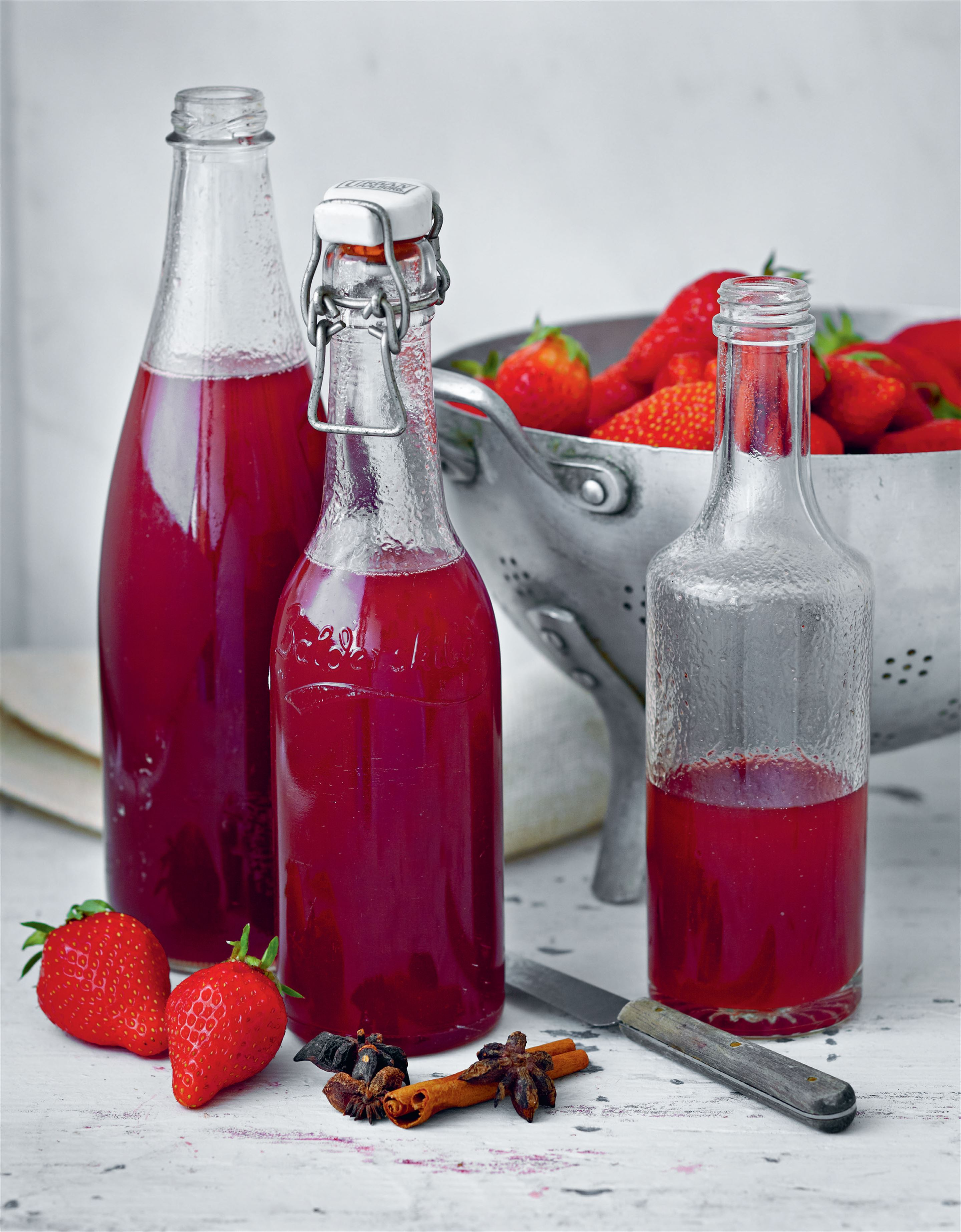 Spiced strawberry syrup