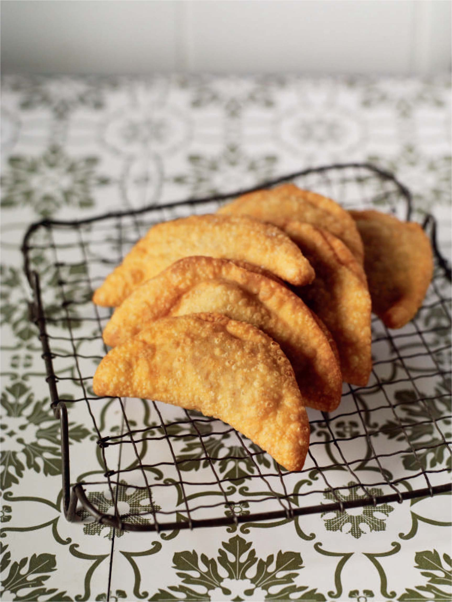 Fried pork crescents