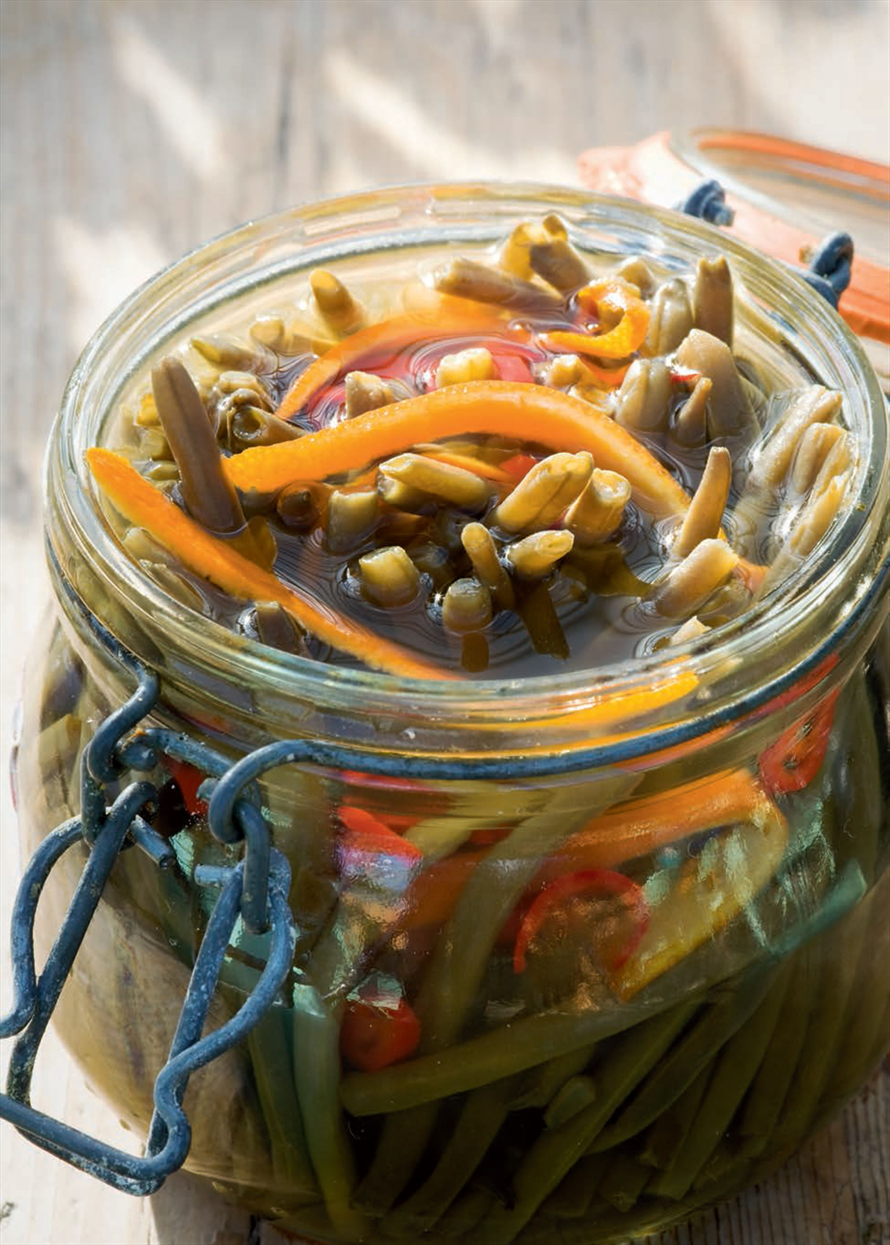 Spiced pickled beans