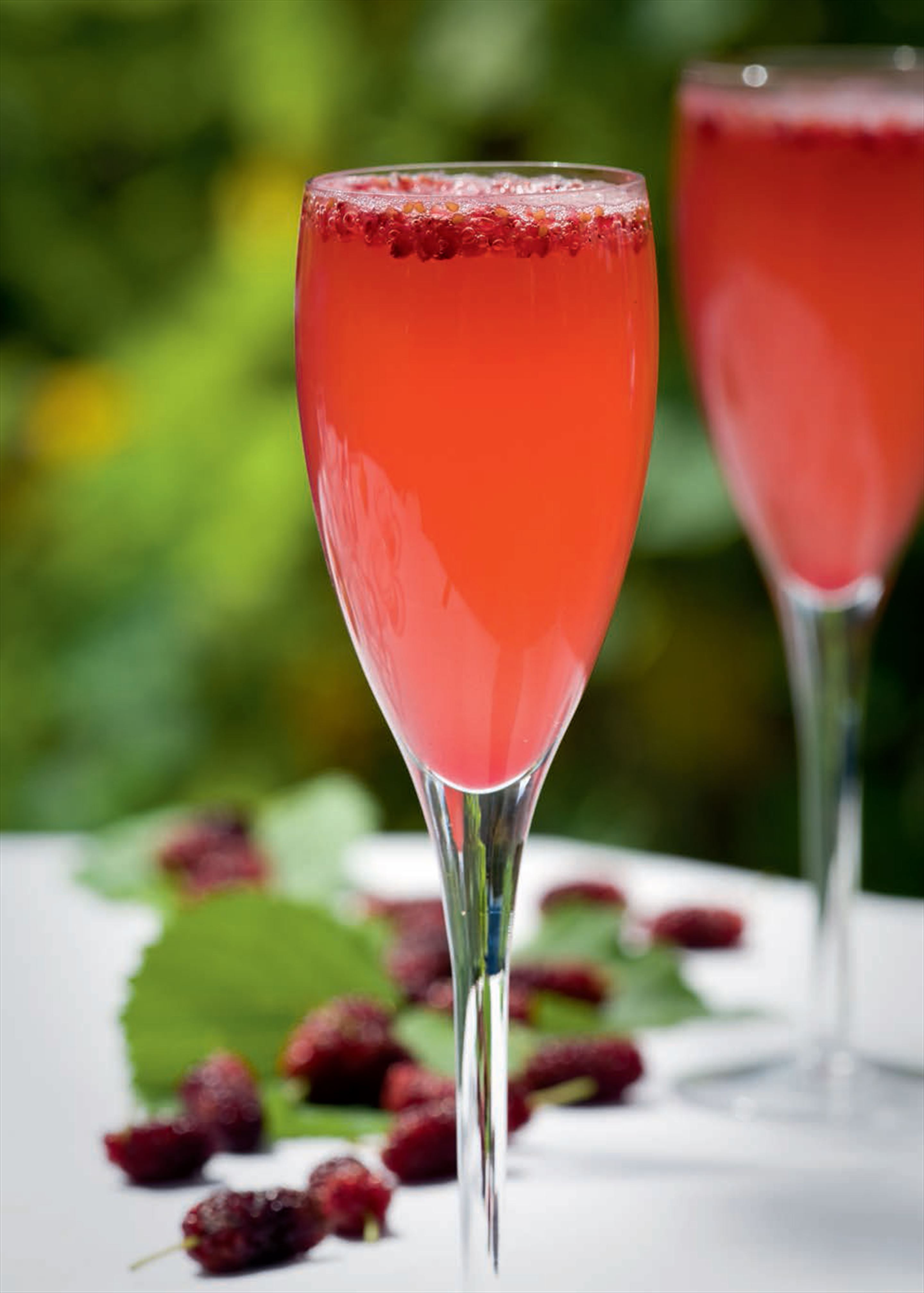 Summer berry bellinis