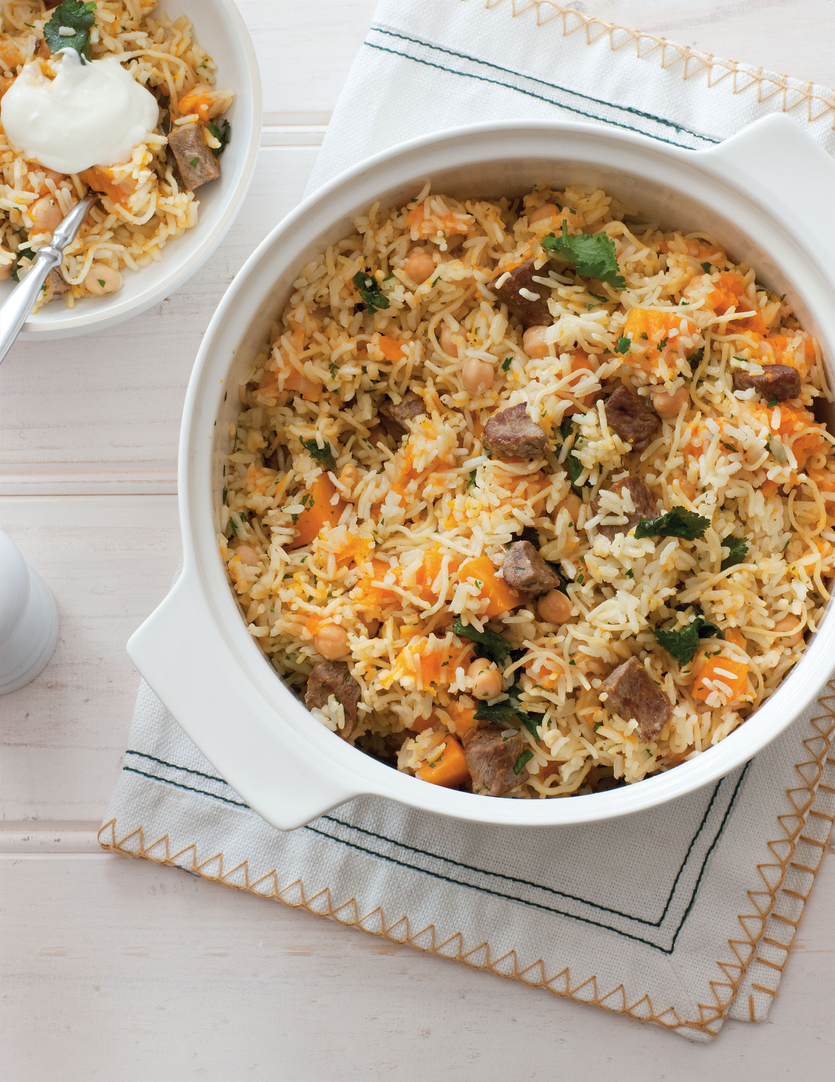 Lamb and pumpkin pilaf