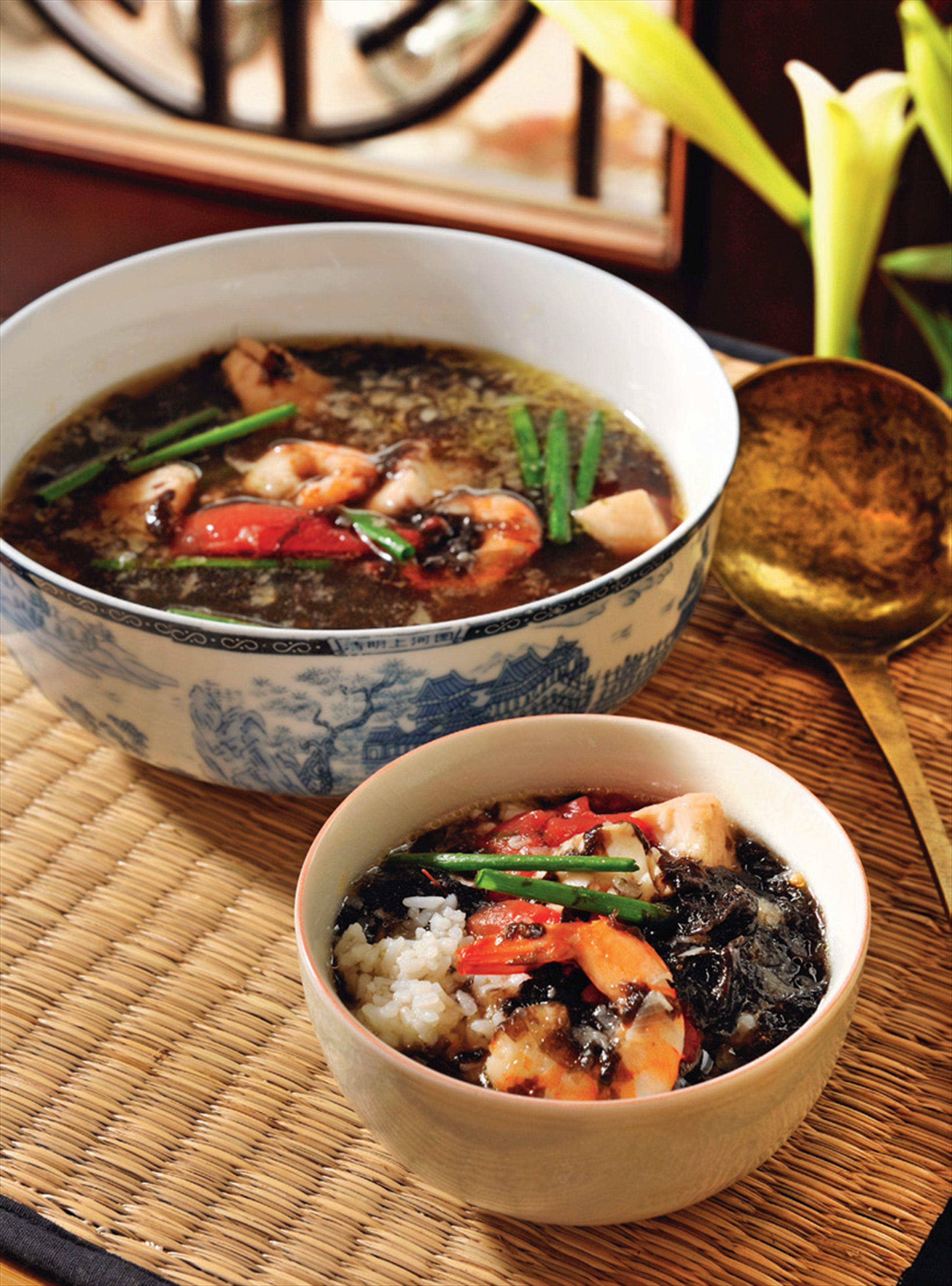 Seaweed and fish soup