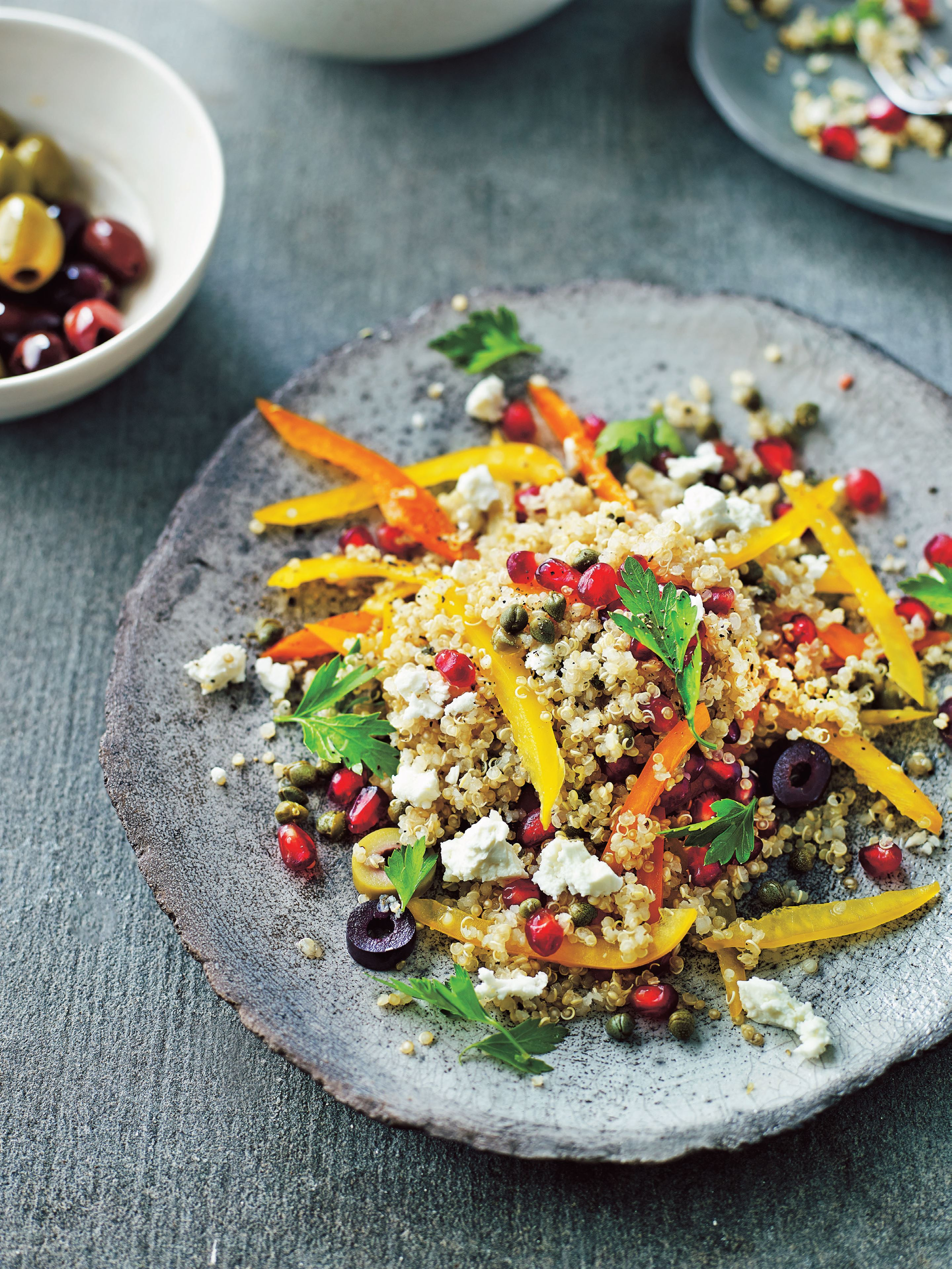 Jumping jewelled quinoa salad