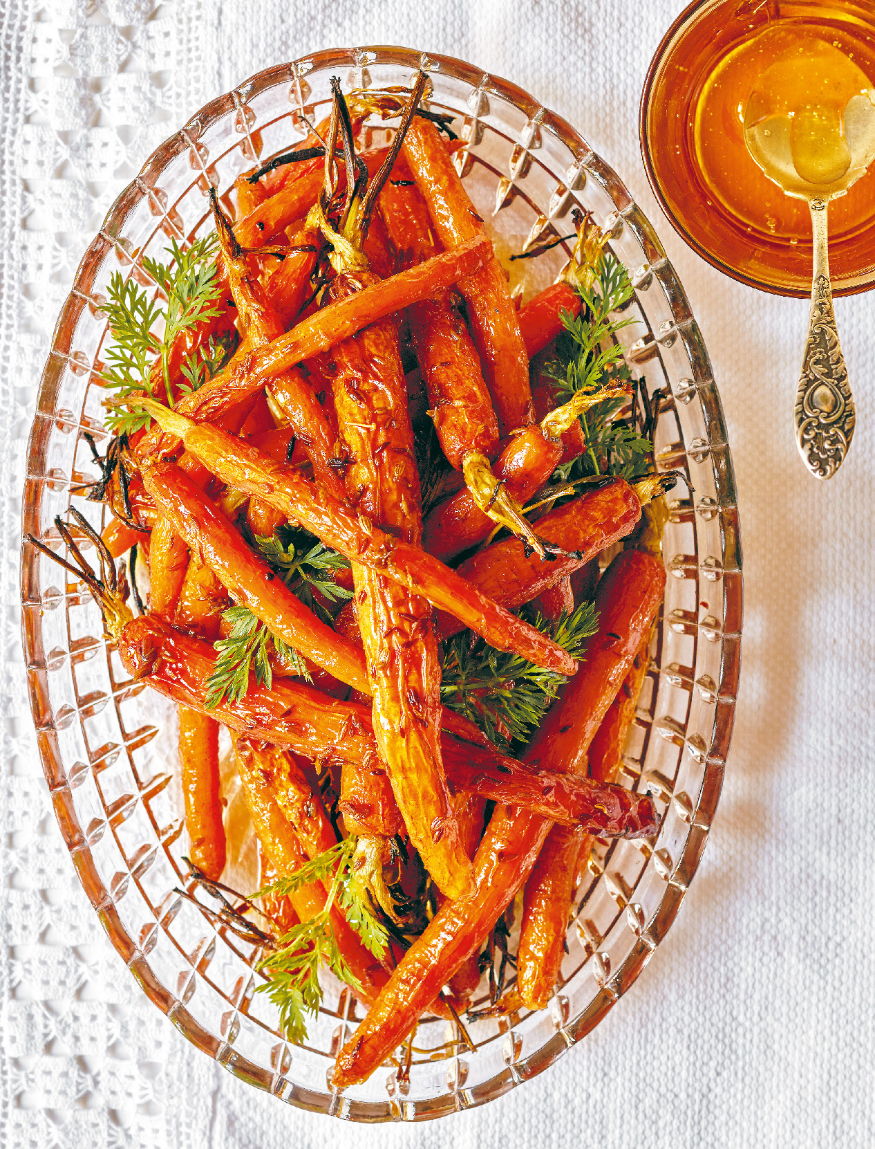 Roasted Dutch carrots with honey and cumin